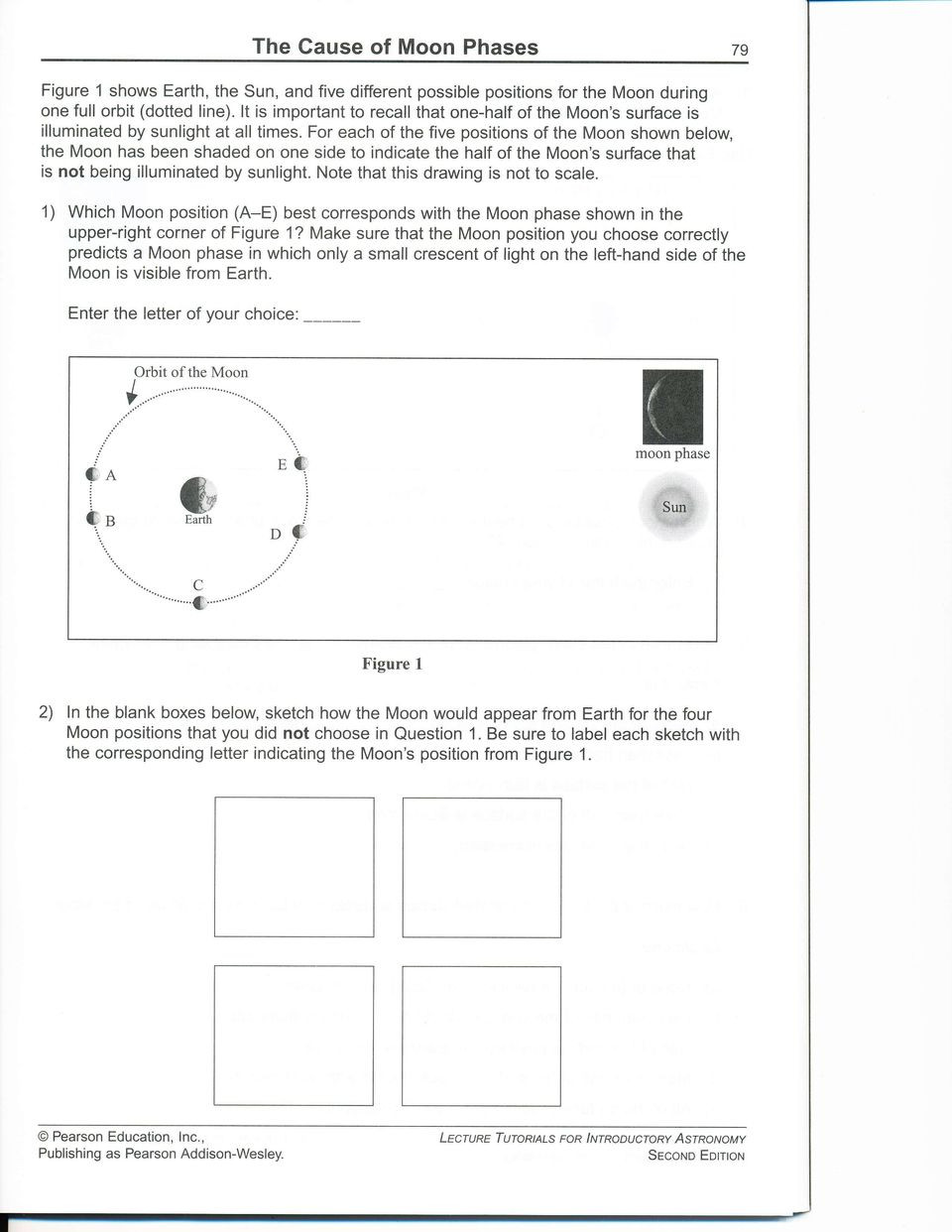 Moon Phases Worksheet Answers Ffi the Cause Of Moon Phases Pdf Free Download