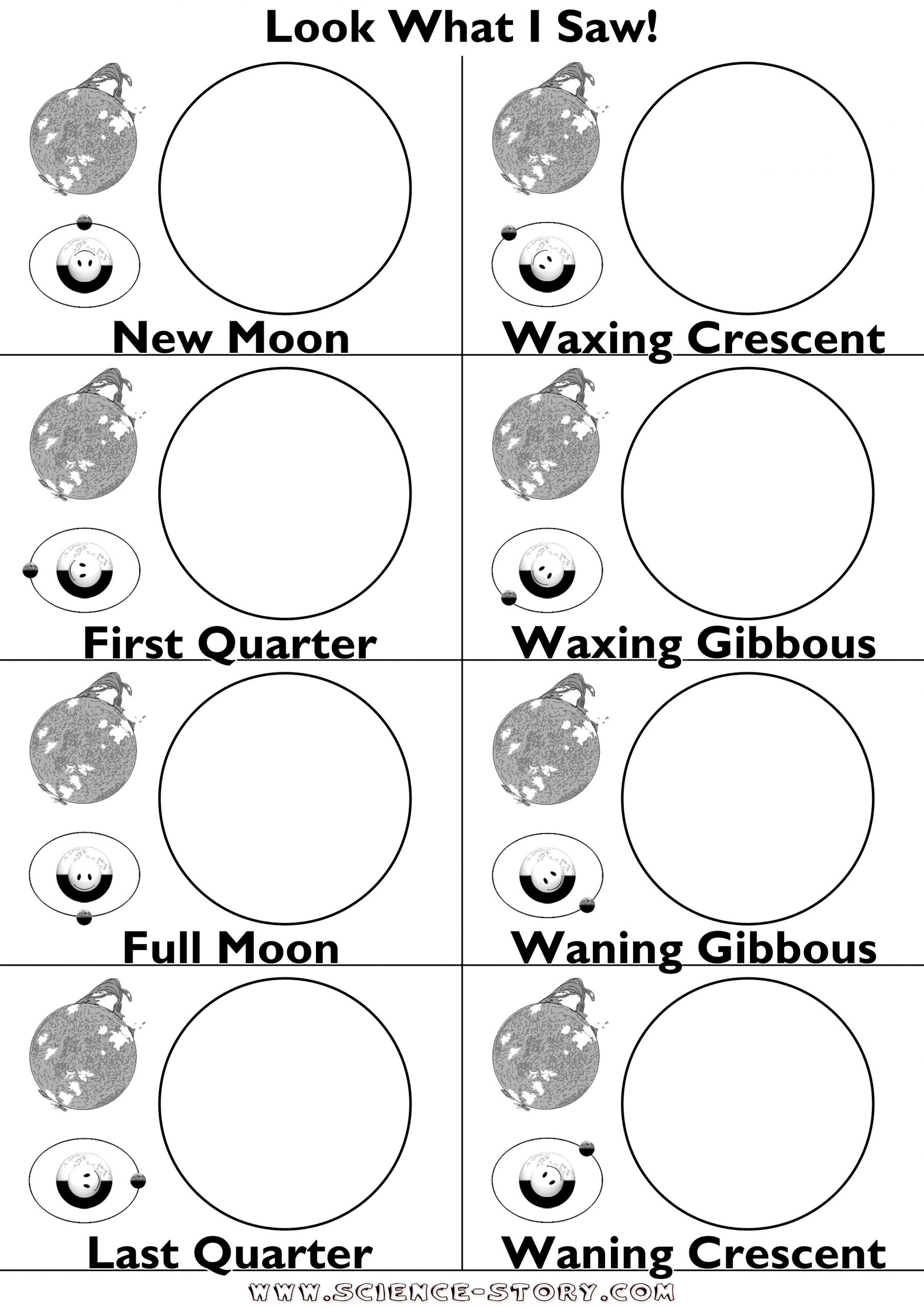 Moon Phases Worksheet Answers Moon Phases Cut and Paste Worksheet