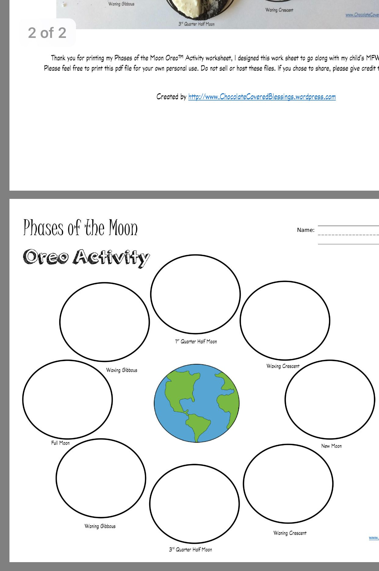 Moon Phases Worksheet Answers Pin by Jenn On Grade 6 Science