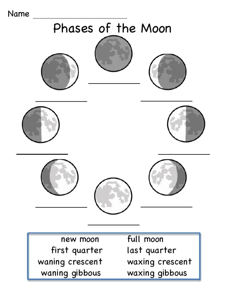 Moon Phases Worksheet Answers This is A Worksheet to Show the Phases Of the Moon