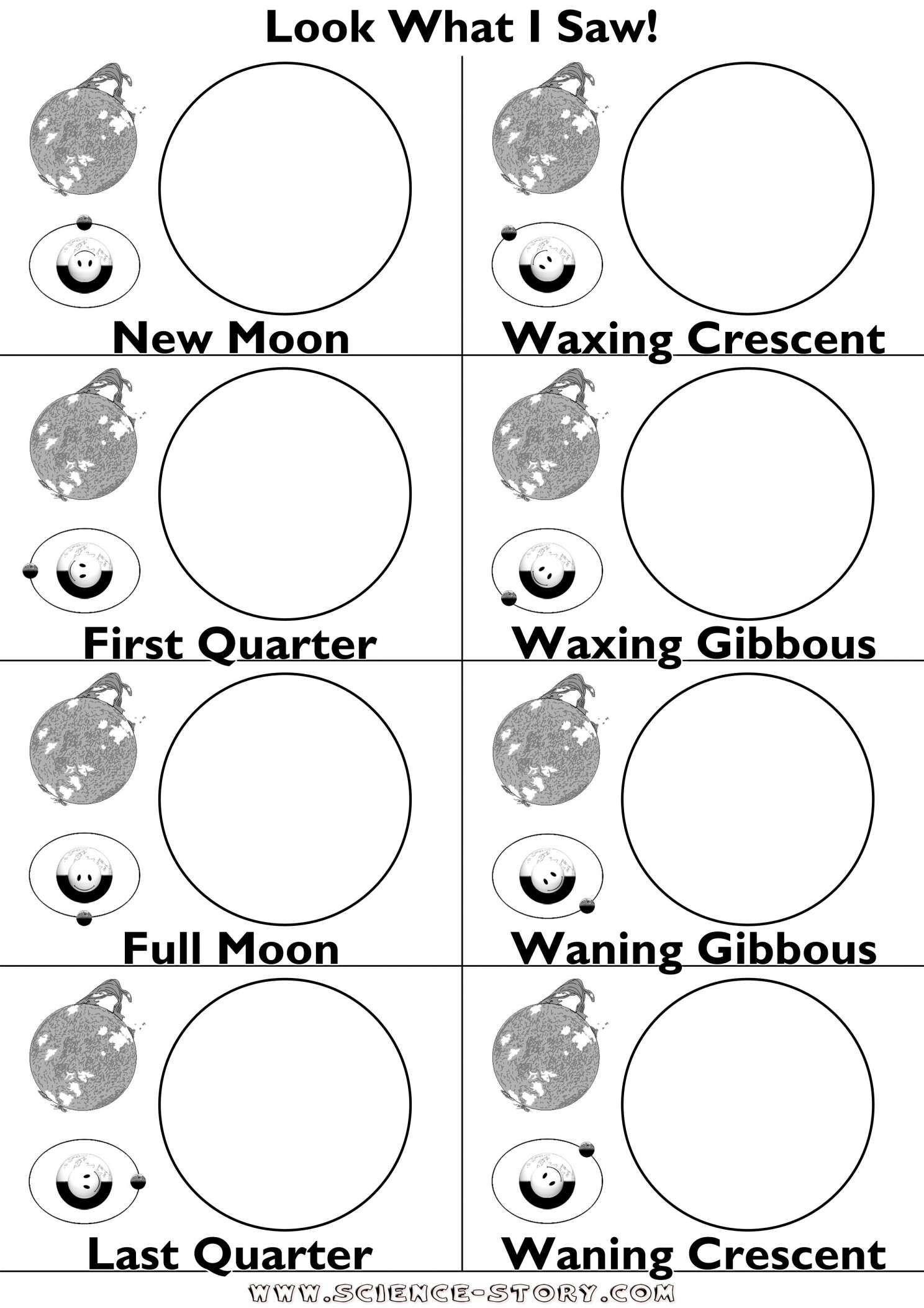 Moon Phases Worksheet Pdf 11 Moon Phases Worksheet Preschool Preschool Printable