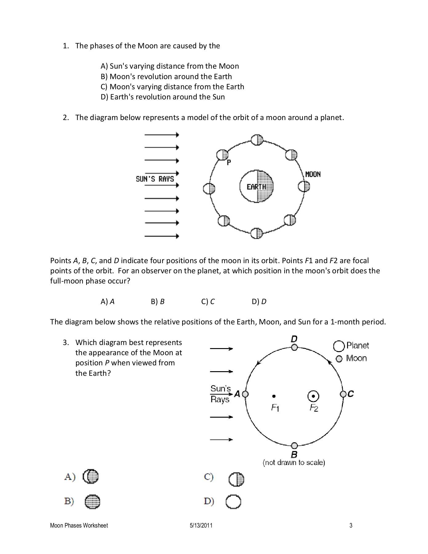 Moon Phases Worksheet Pdf Moon Phases Worksheet
