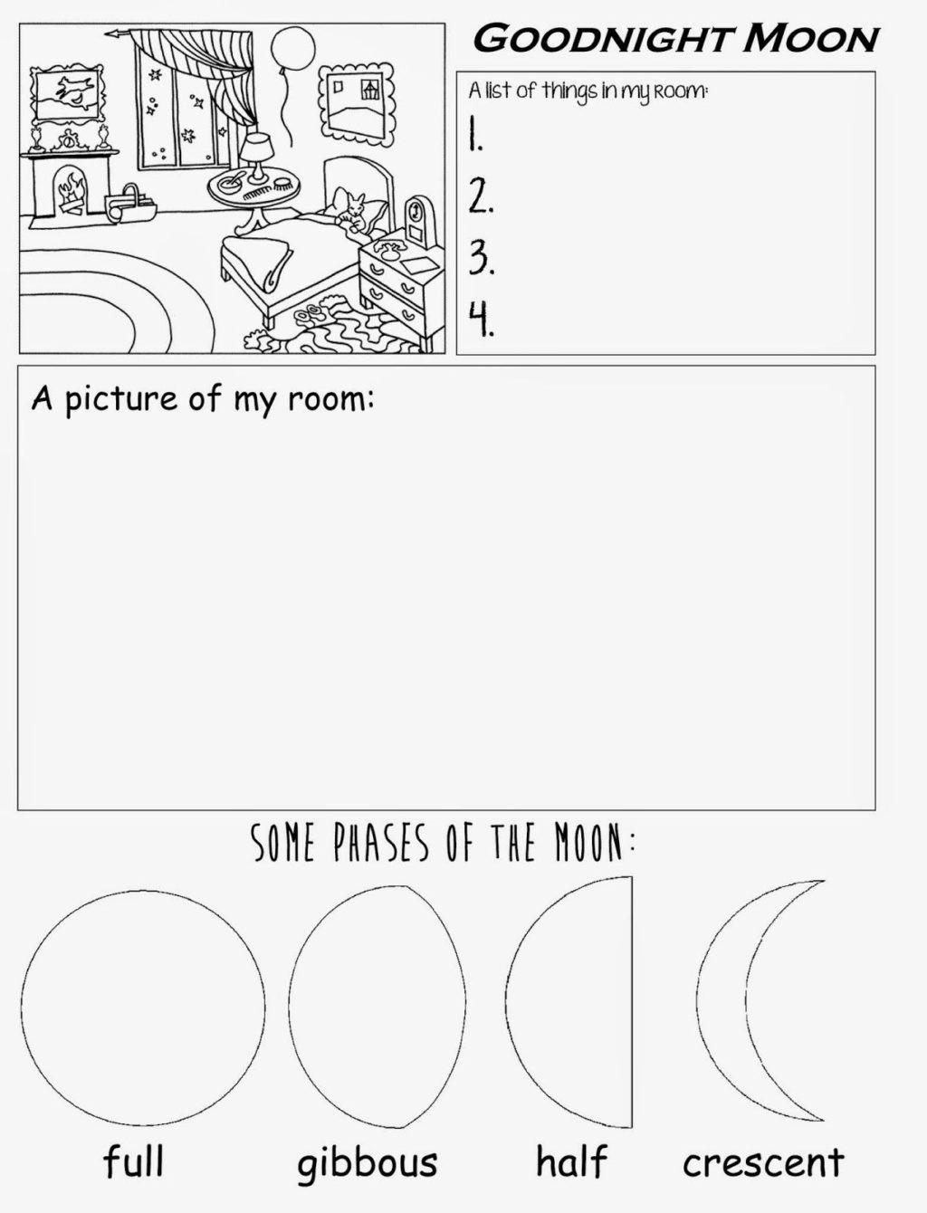 Moon Phases Worksheet Pdf Worksheet Worksheet Goodnight Moon Freerintable