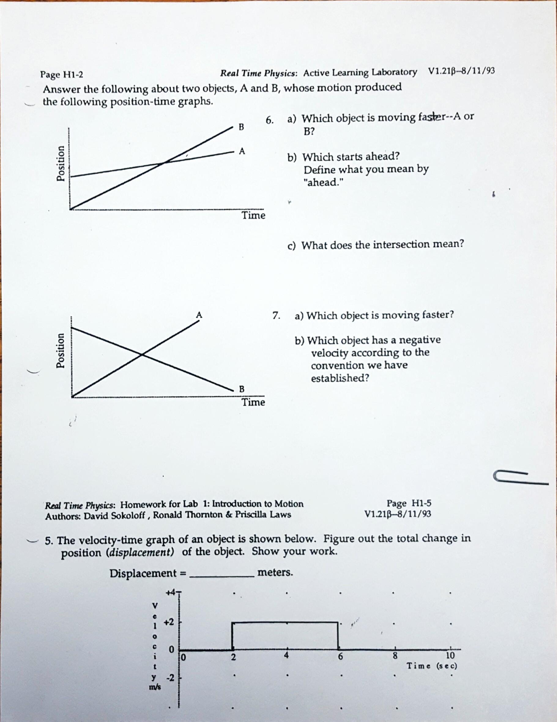 Motion Graph Analysis Worksheet Chin Rachel Daily Items