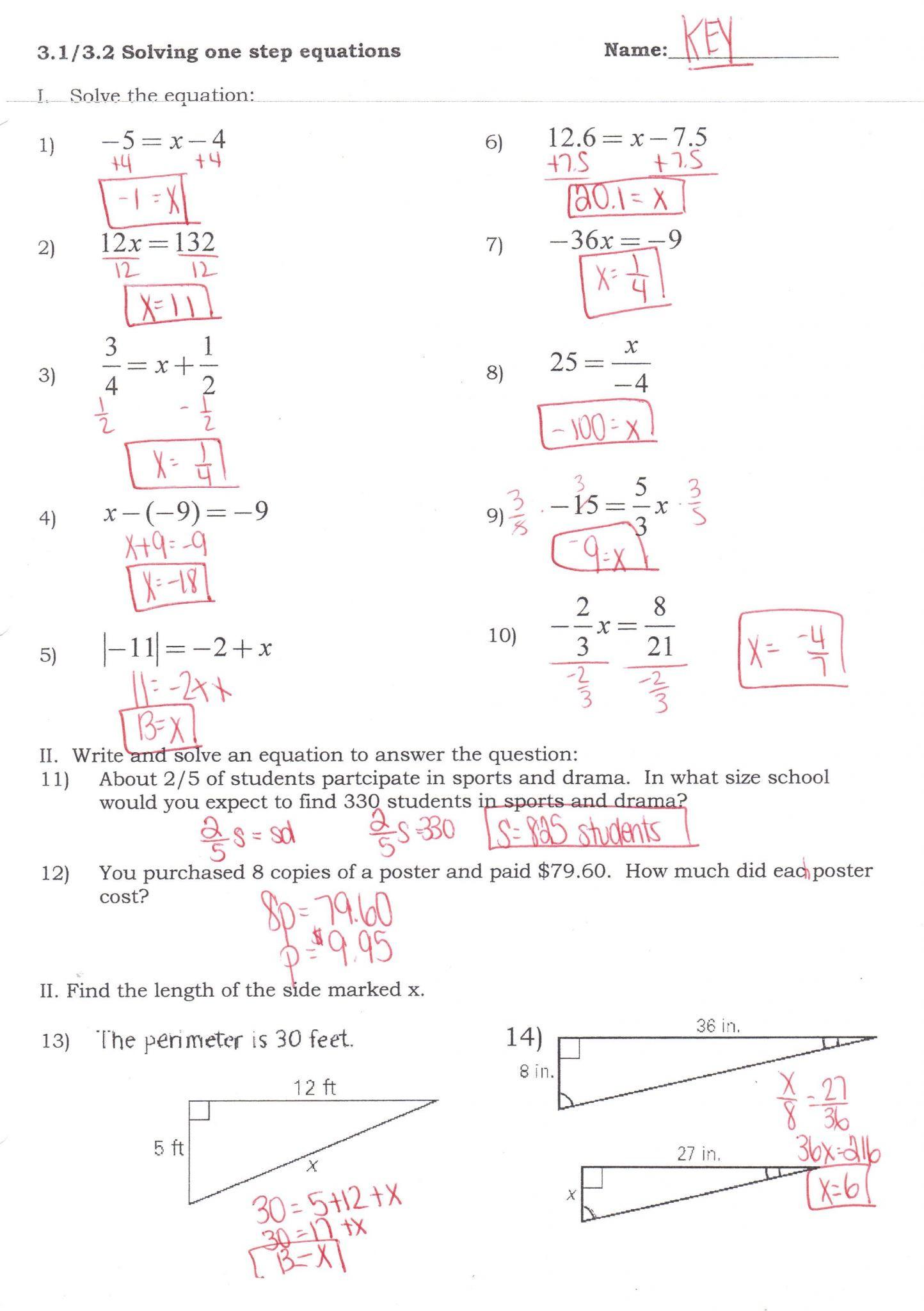 Multi Step Inequalities Worksheet Multi Step Equations and Inequalities Worksheet Answers