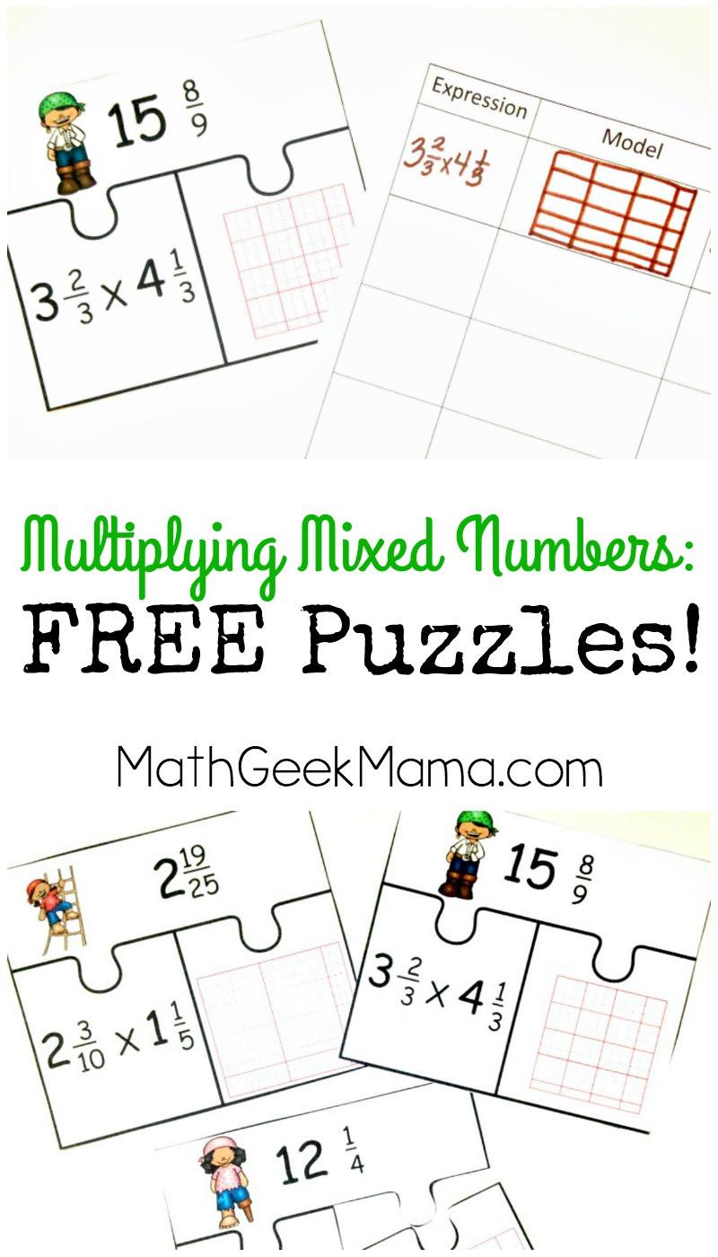 Multiplying Mixed Numbers Worksheet Low Prep Multiplying Fractions Activity Free Mixed Numbers