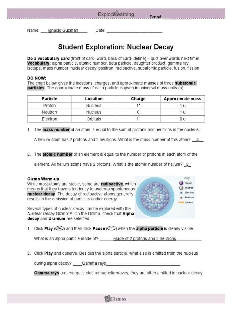 Nuclear Decay Worksheet Answer Key Nuclear Decay Worksheet Answer Key Worksheet List