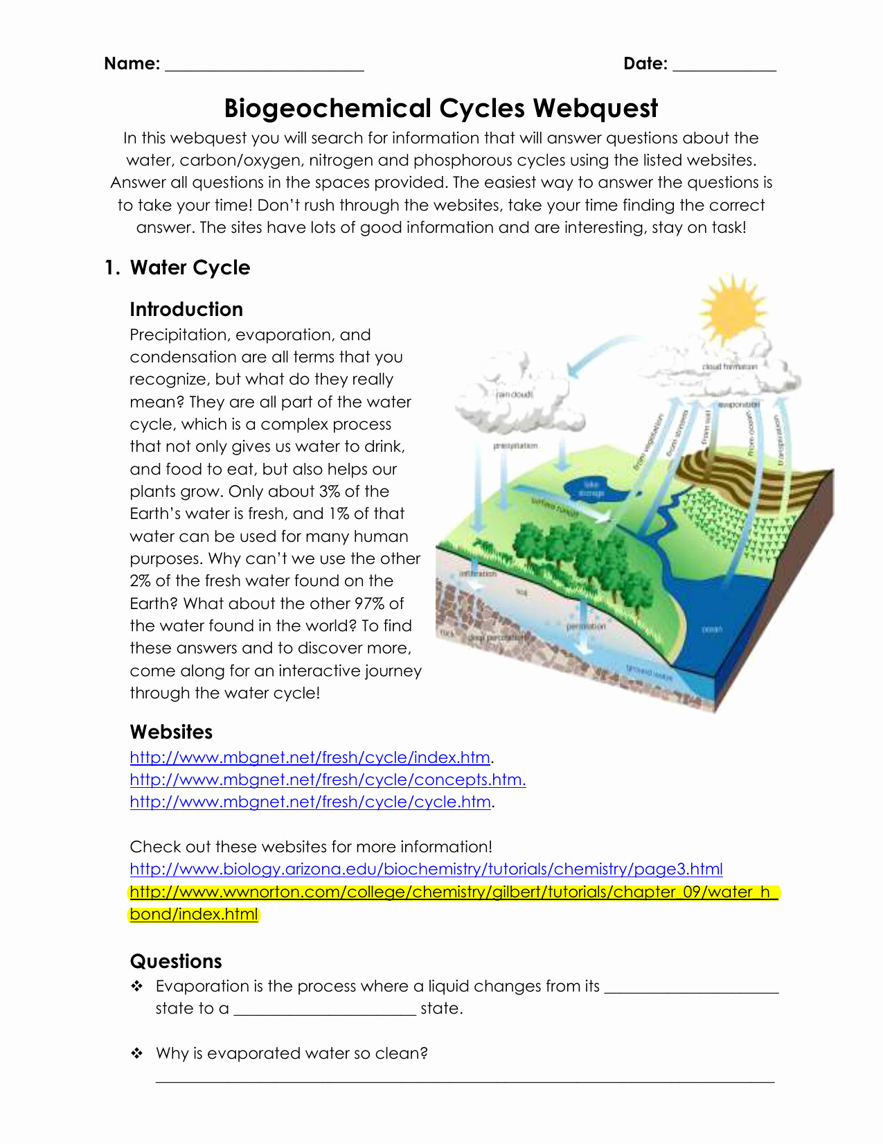 Nutrient Cycles Worksheet Answers Label Nitrogen Cycle Worksheet