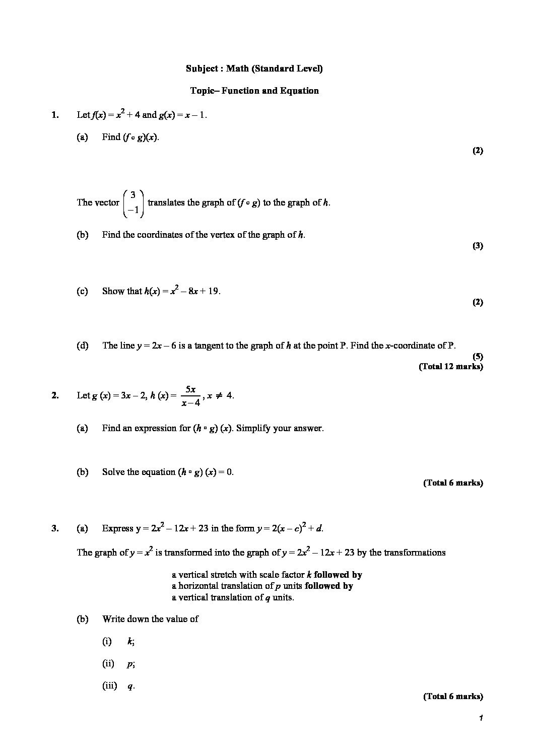Operations with Functions Worksheet Worksheet Archives Sat Prep