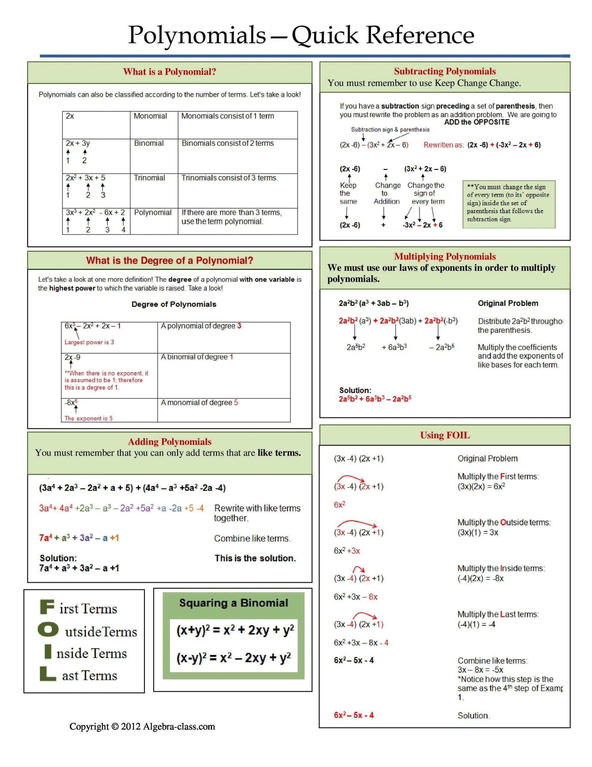 Operations with Polynomials Worksheet Operations with Polynomials Worksheet E Page Notes Worksheet