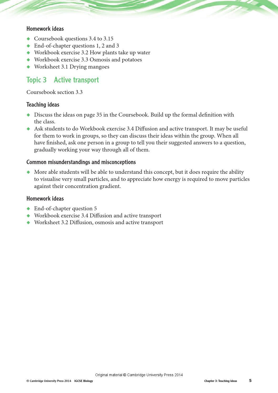Osmosis Jones Video Worksheet Answers Cambridge Igcse Biology Teacher S Resource Third Edition