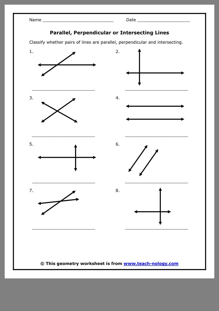 Parallel and Perpendicular Lines Worksheet Pin by Hanit Schuldenfrei On גאומטריה