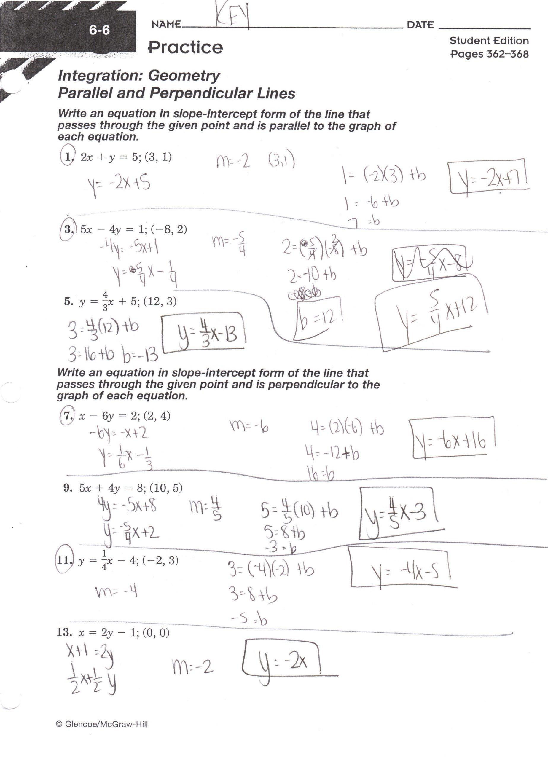 Parallel and Perpendicular Lines Worksheet Pin On Printable Blank Worksheet Templates