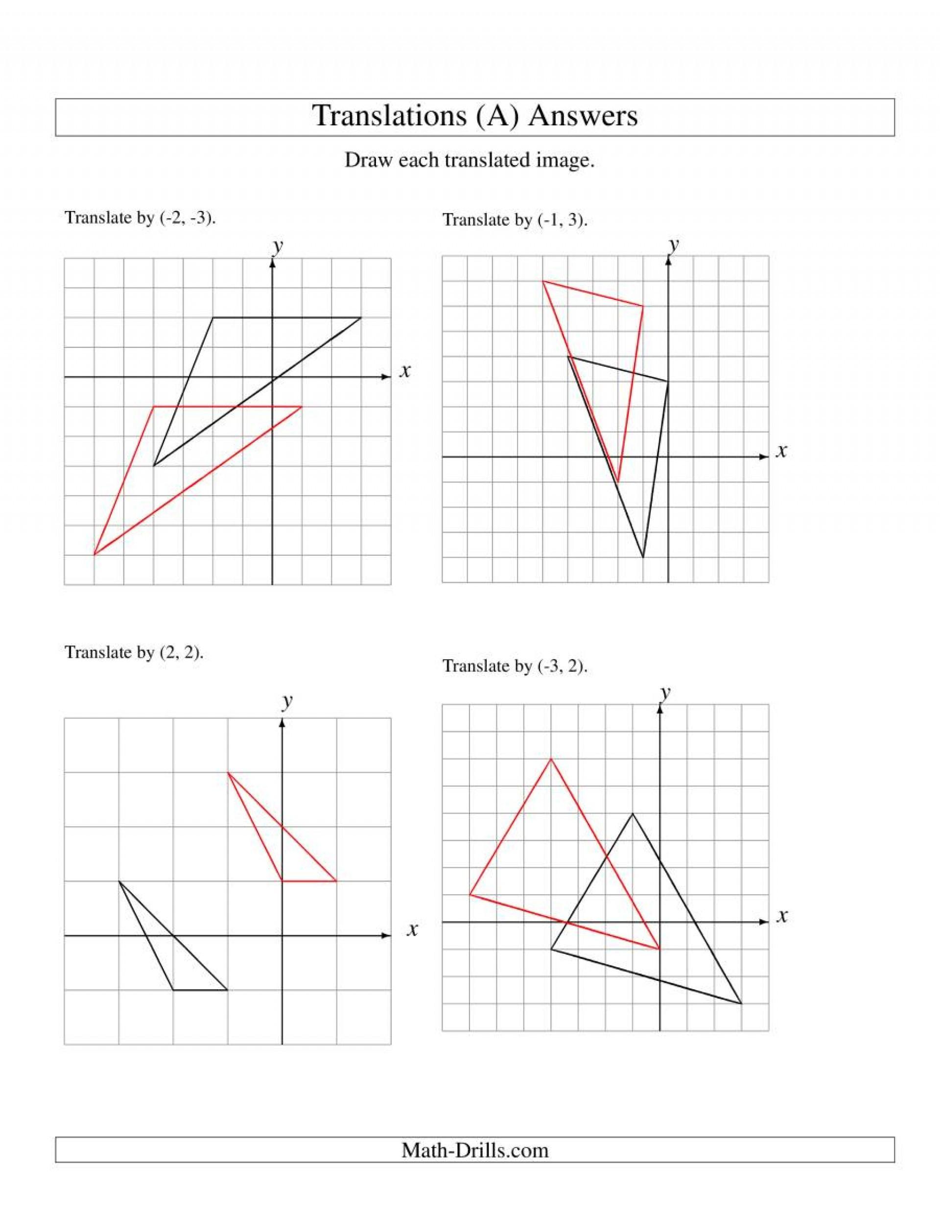 Parent Function Worksheet Answers Translation Parent Functions Worksheet