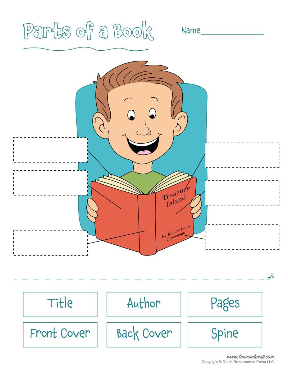 Parts Of A Book Worksheet Free Printable Parts Of A Book Worksheet for Kids
