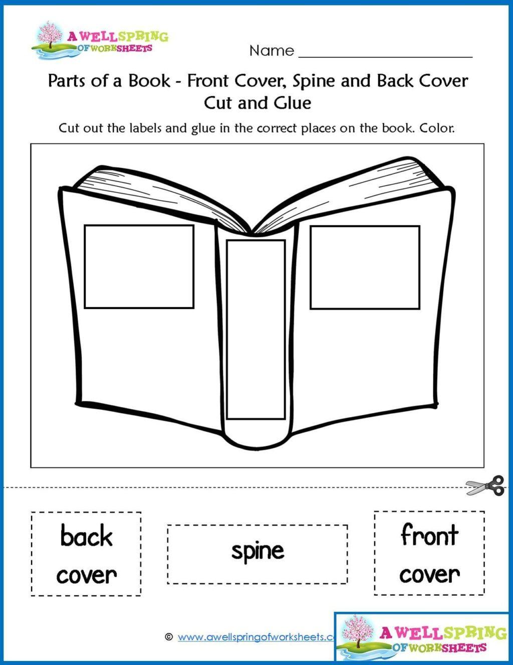 Parts Of A Book Worksheet Worksheet Worksheetr Kinder Worksheets by Subject