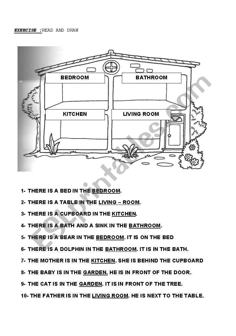 Parts Of A Map Worksheet Parts Of the House Worksheet