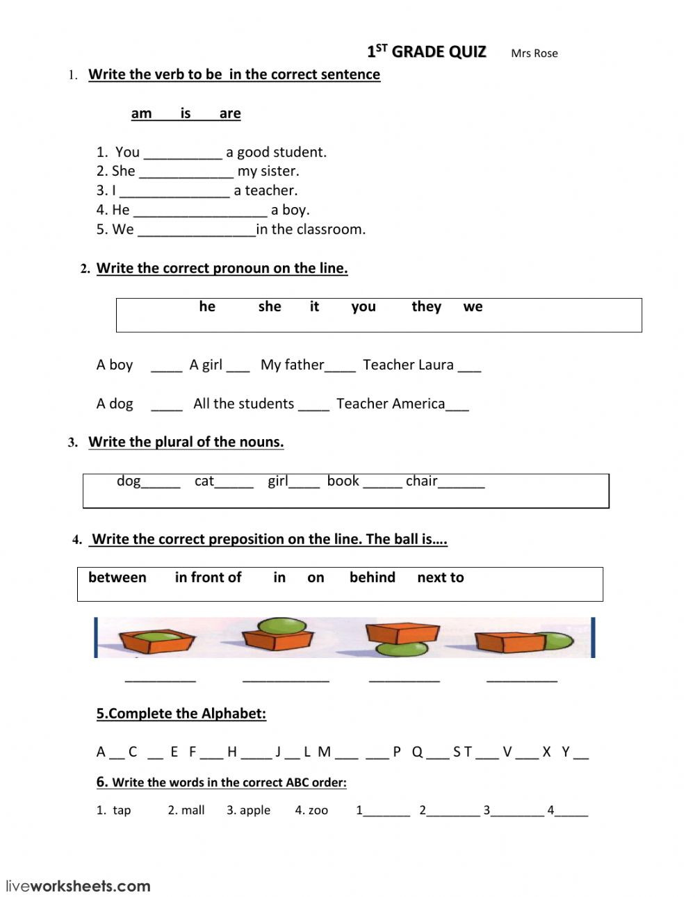 Parts Of Speech Review Worksheet Review Interactive Worksheet