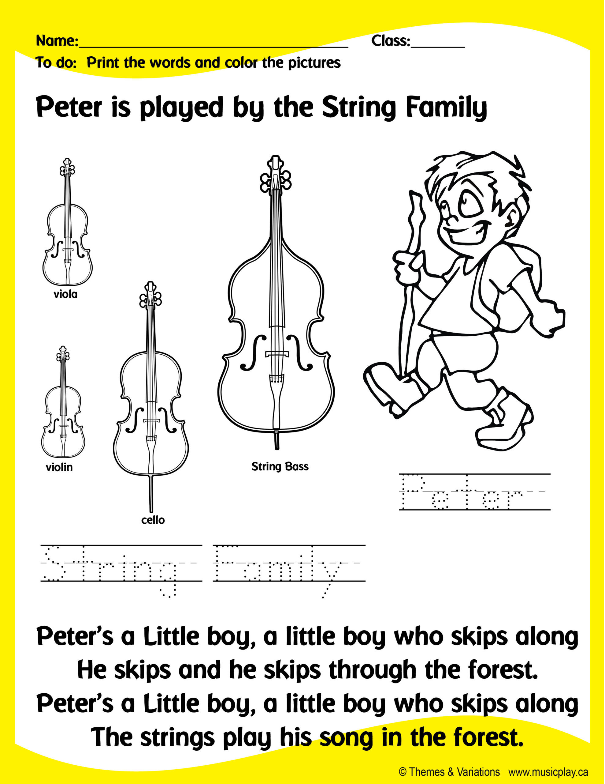 Peter and the Wolf Worksheet Peter and the Wolf 3