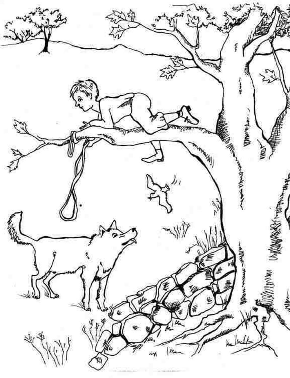 Peter and the Wolf Worksheet Peter and the Wolf Coloring Pages 1000—1300