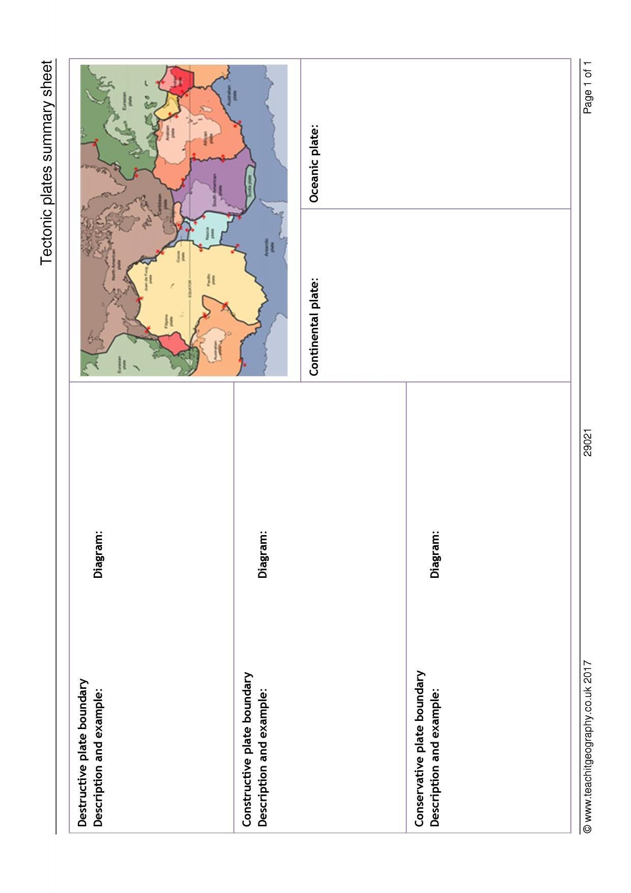 Plate Boundary Worksheet Answers Ks4 Plate Boundaries