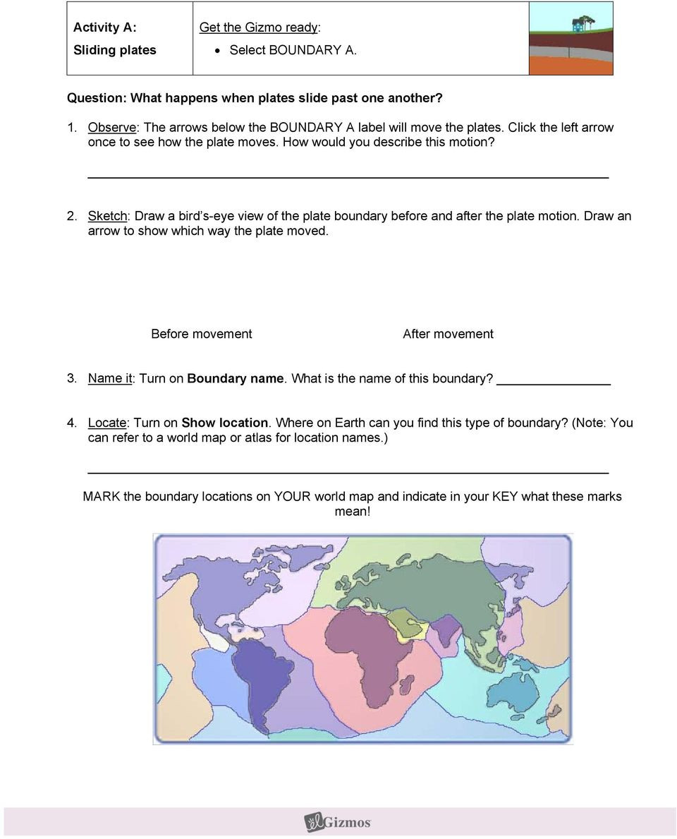 Plate Tectonic Worksheet Answers Student Exploration Plate Tectonics Pdf Free Download