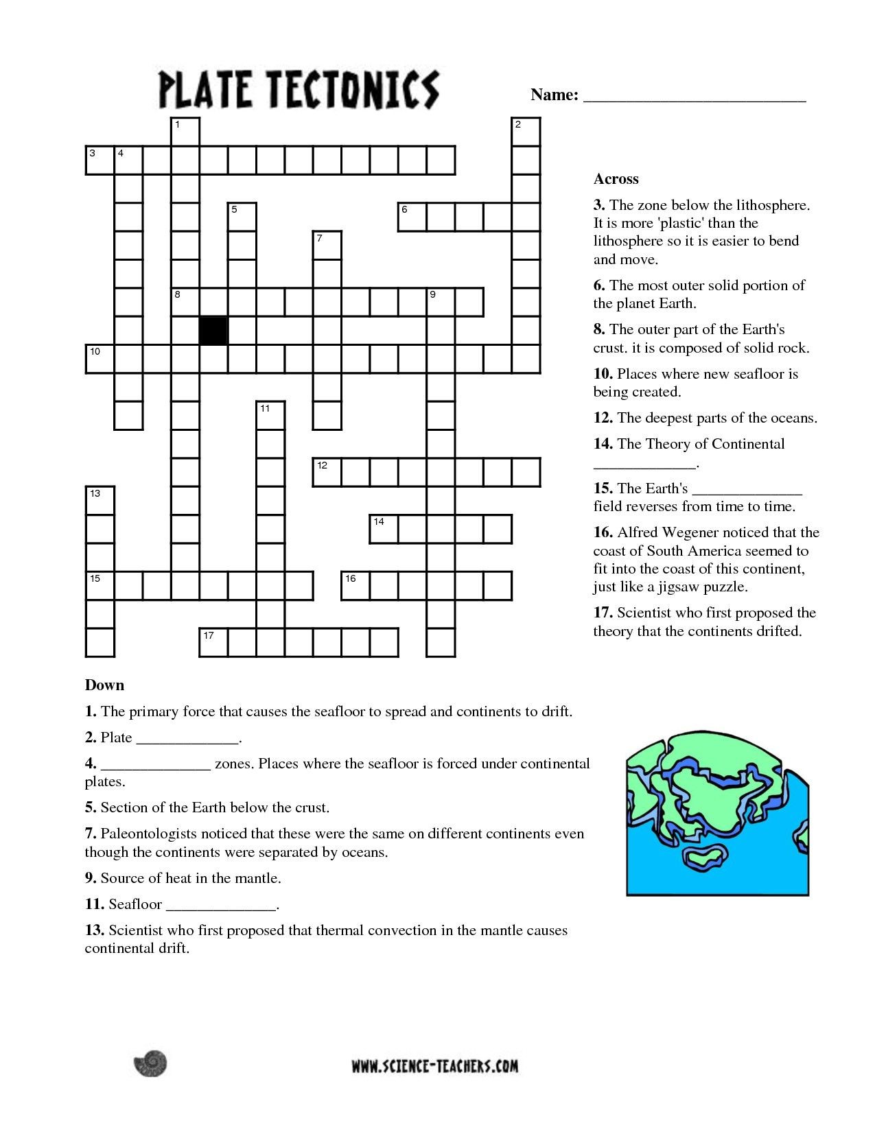 Plate Tectonic Worksheet Answers You Can Download Fresh Periodic Table Groups Crossword Clue