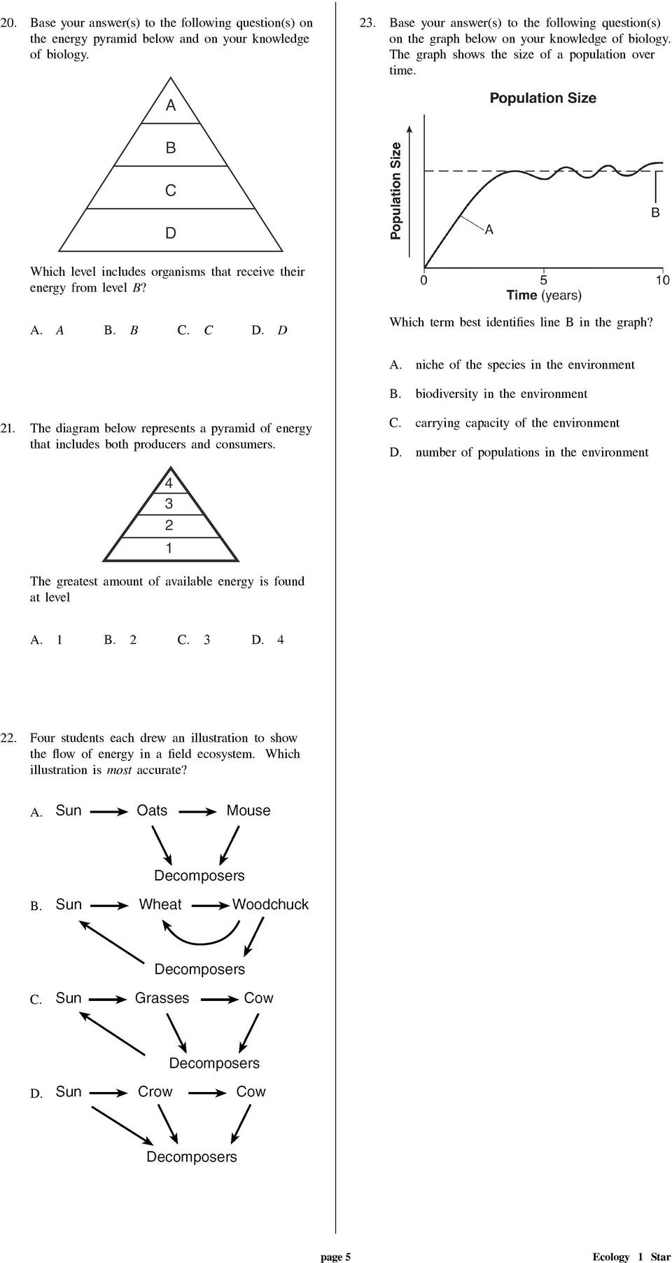 Population Ecology Graph Worksheet Ecology 1 Star 1 Missing From the Diagram Of This