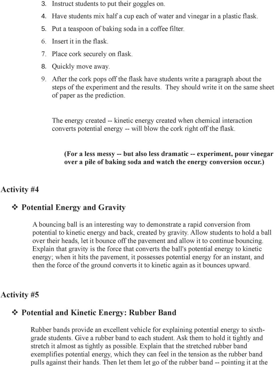 Potential Versus Kinetic Energy Worksheet Kinetic and Potential Energy Pdf Free Download