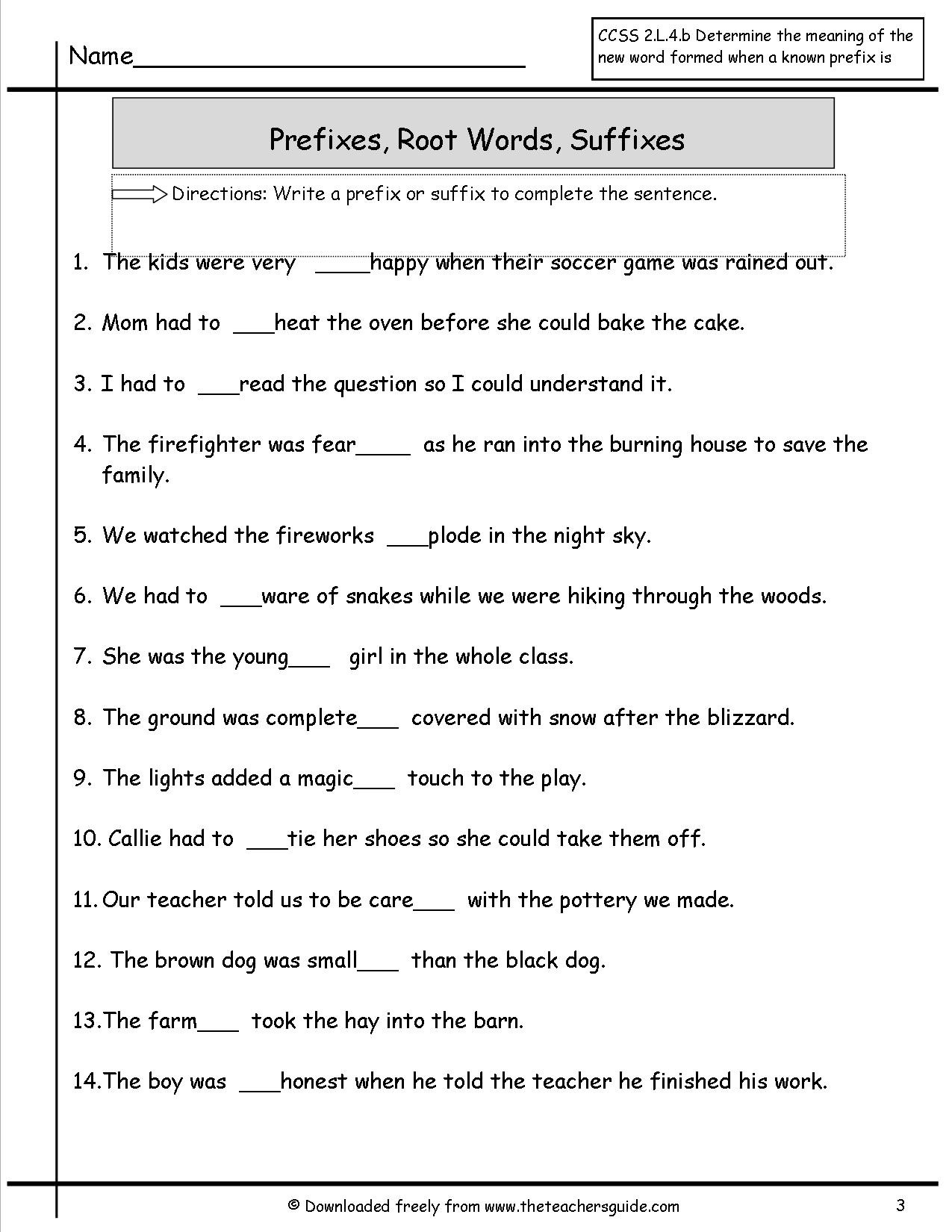 Prefixes and Suffixes Worksheet Awesome Prefixes and Suffixes Worksheet