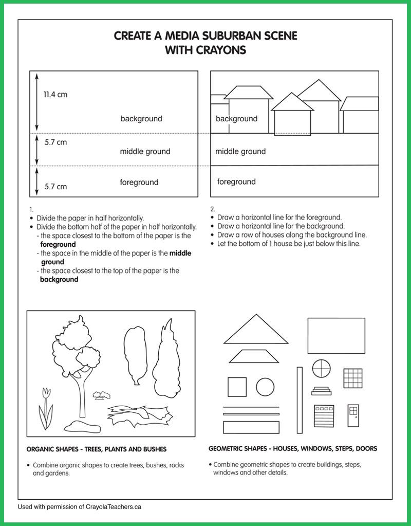 Principles Of Design Worksheet Art Worksheets Crayola Teachers