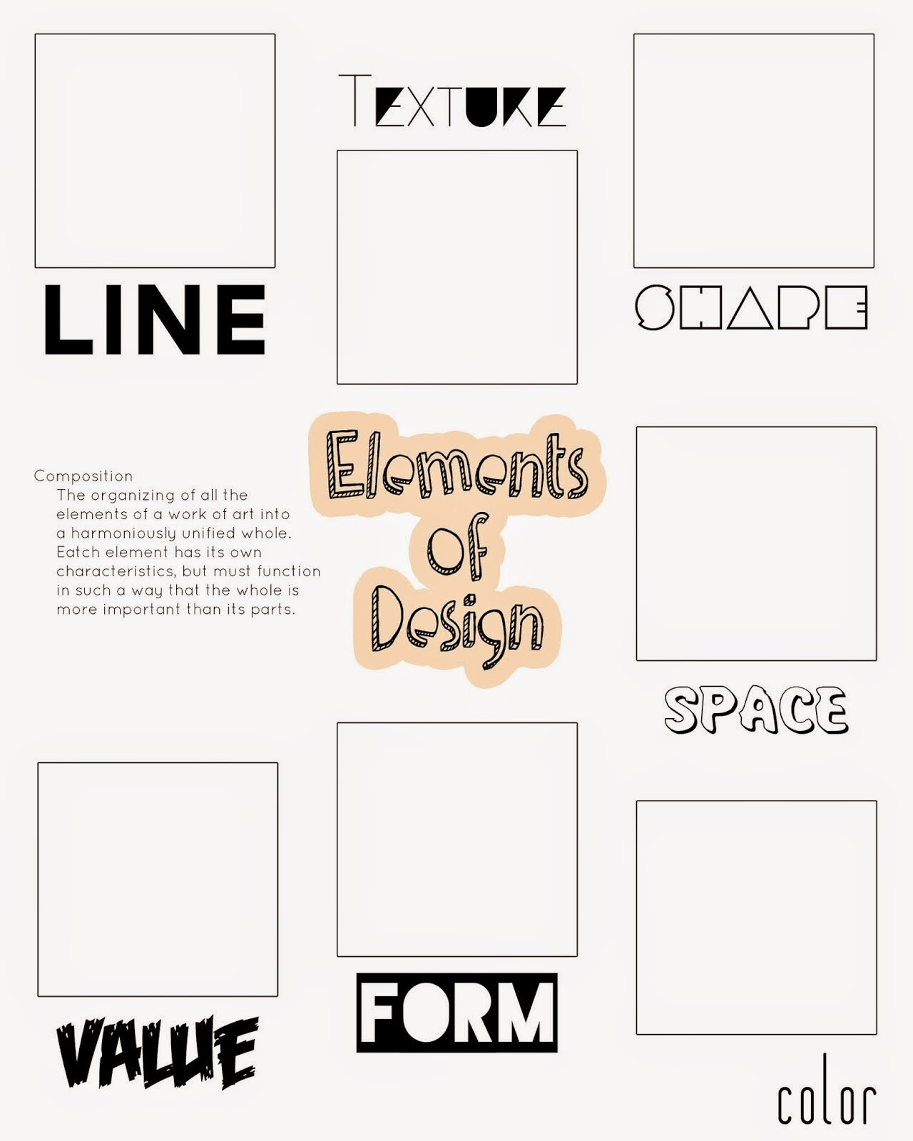 Principles Of Design Worksheet Artimus Prime 7th Elements and Principles Of Design Unit