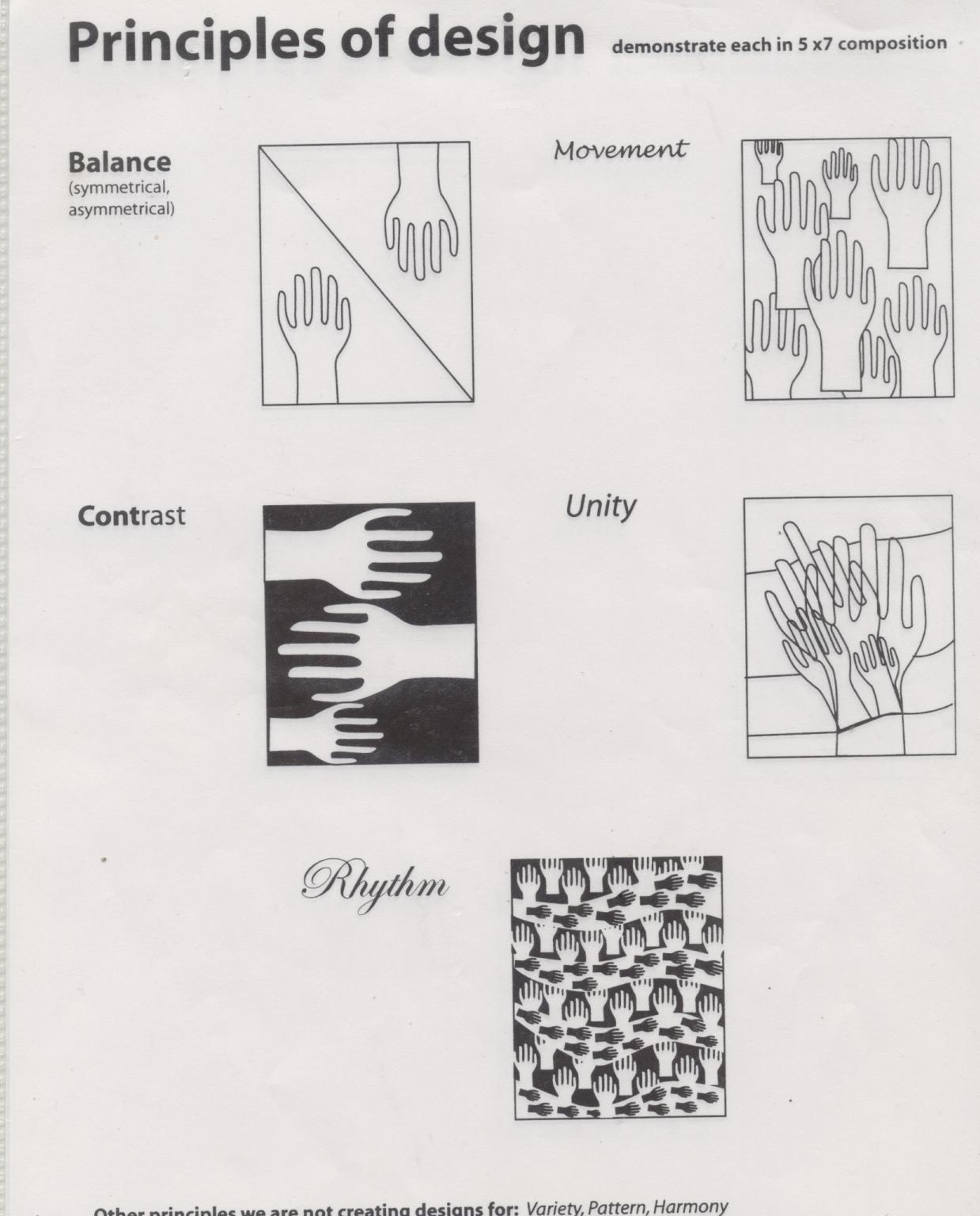 Principles Of Design Worksheet Mcnally S Art Classes Principles Of Design