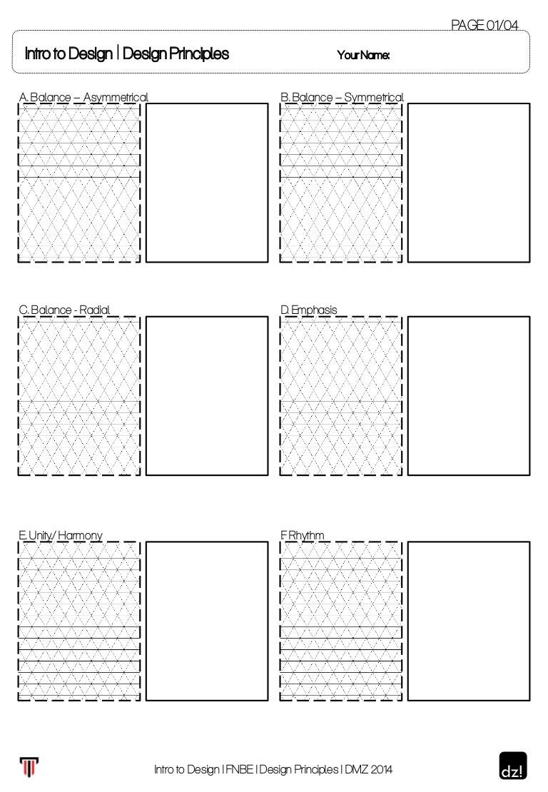Principles Of Design Worksheet Worksheet for Design Principles