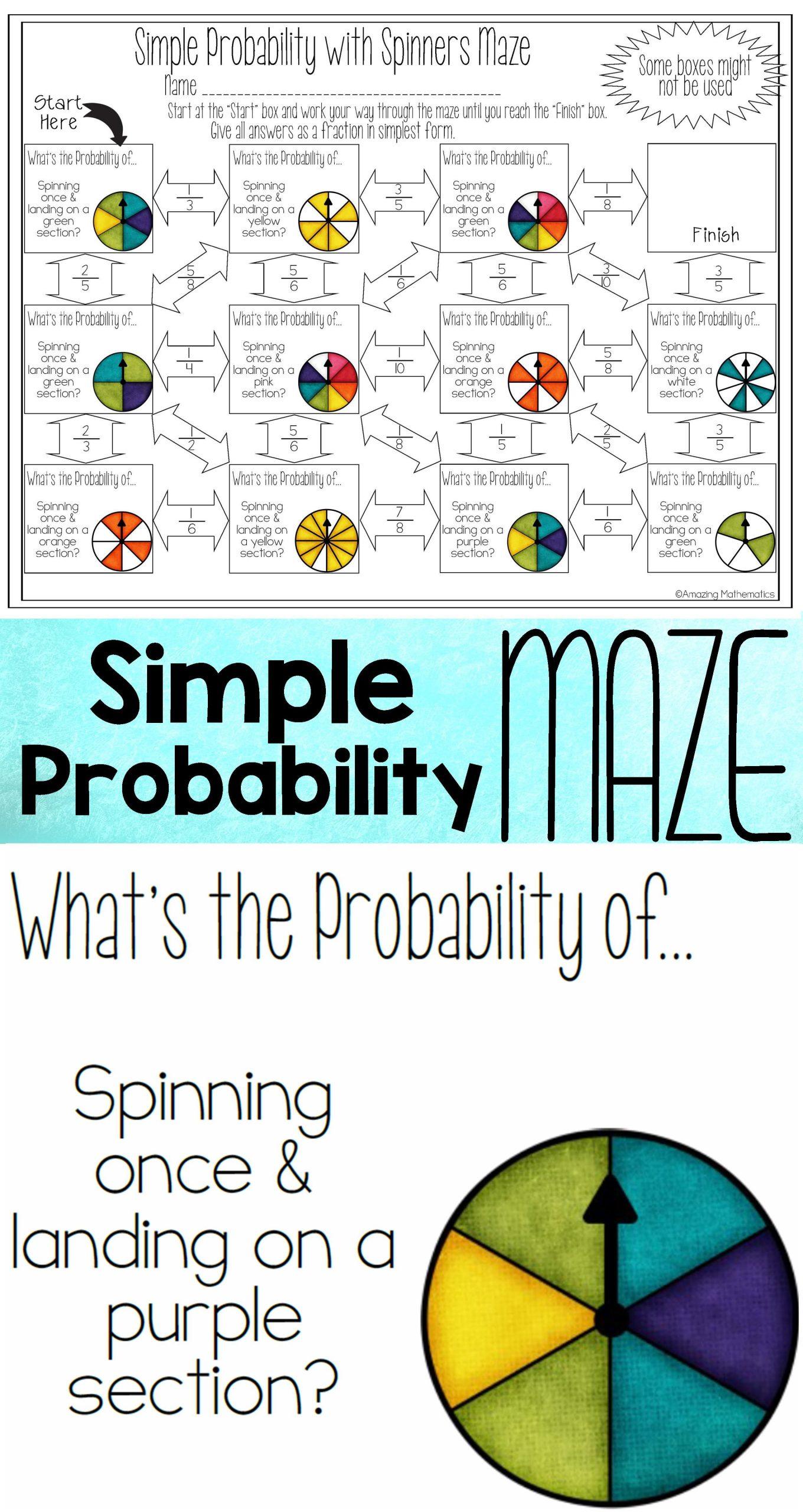 Probability Worksheet High School My 7th Grade Math Students Loved This Probability Worksheet