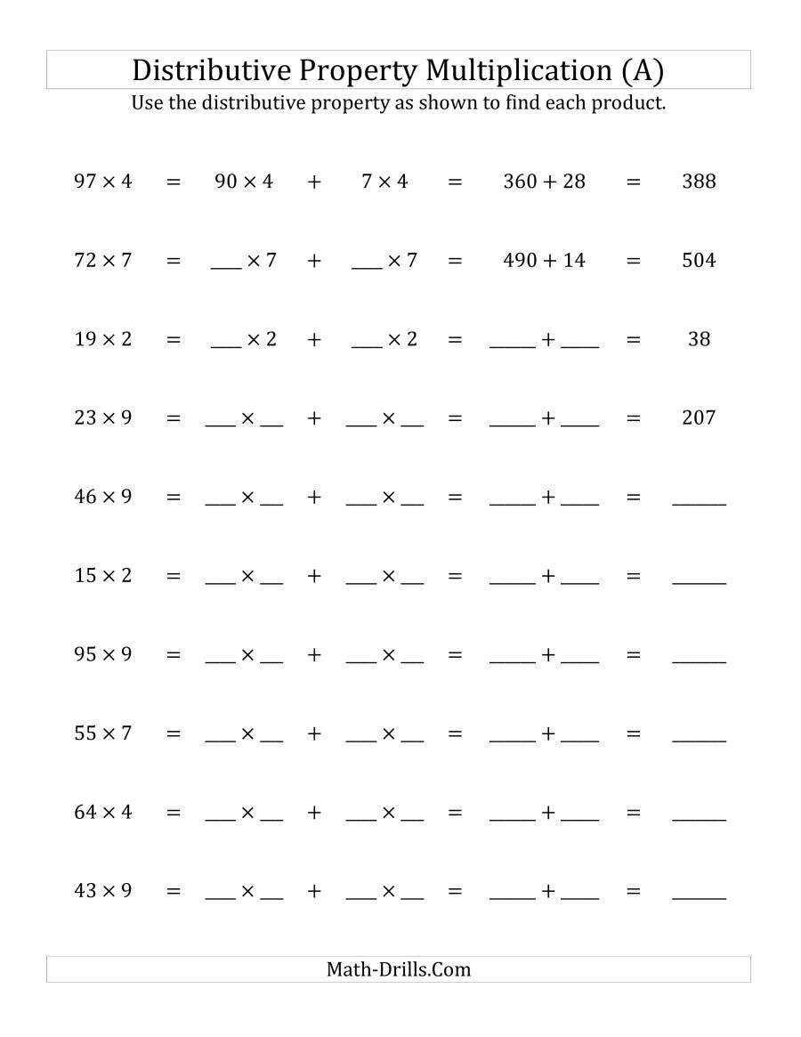 Properties Of Real Numbers Worksheet 35 Using the Distributive Property Worksheet Worksheet