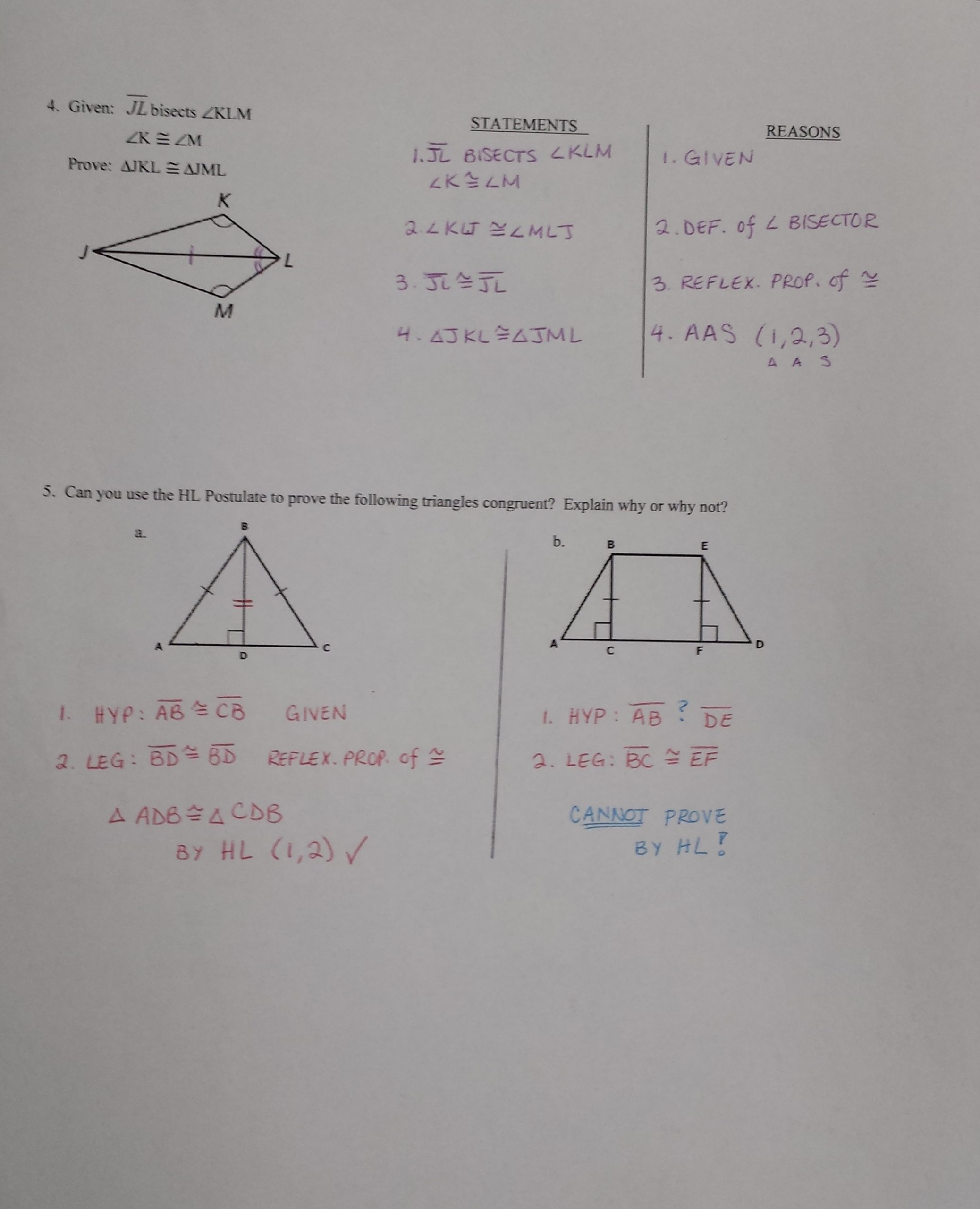 Proving Triangles Congruent Worksheet Hl Triangle Congruence Worksheet