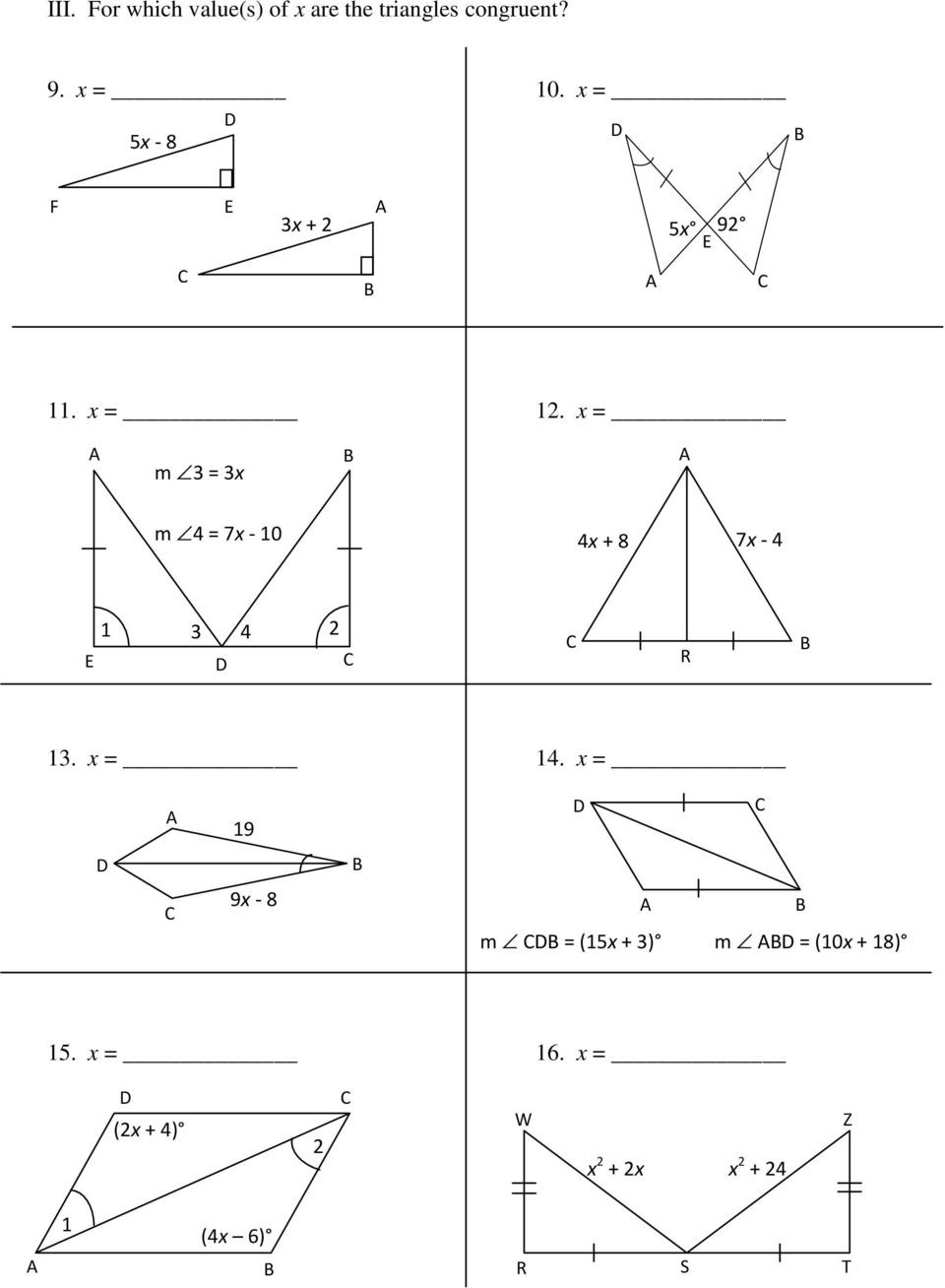 Proving Triangles Congruent Worksheet Name Period 11 2 11 13 Pdf Free Download