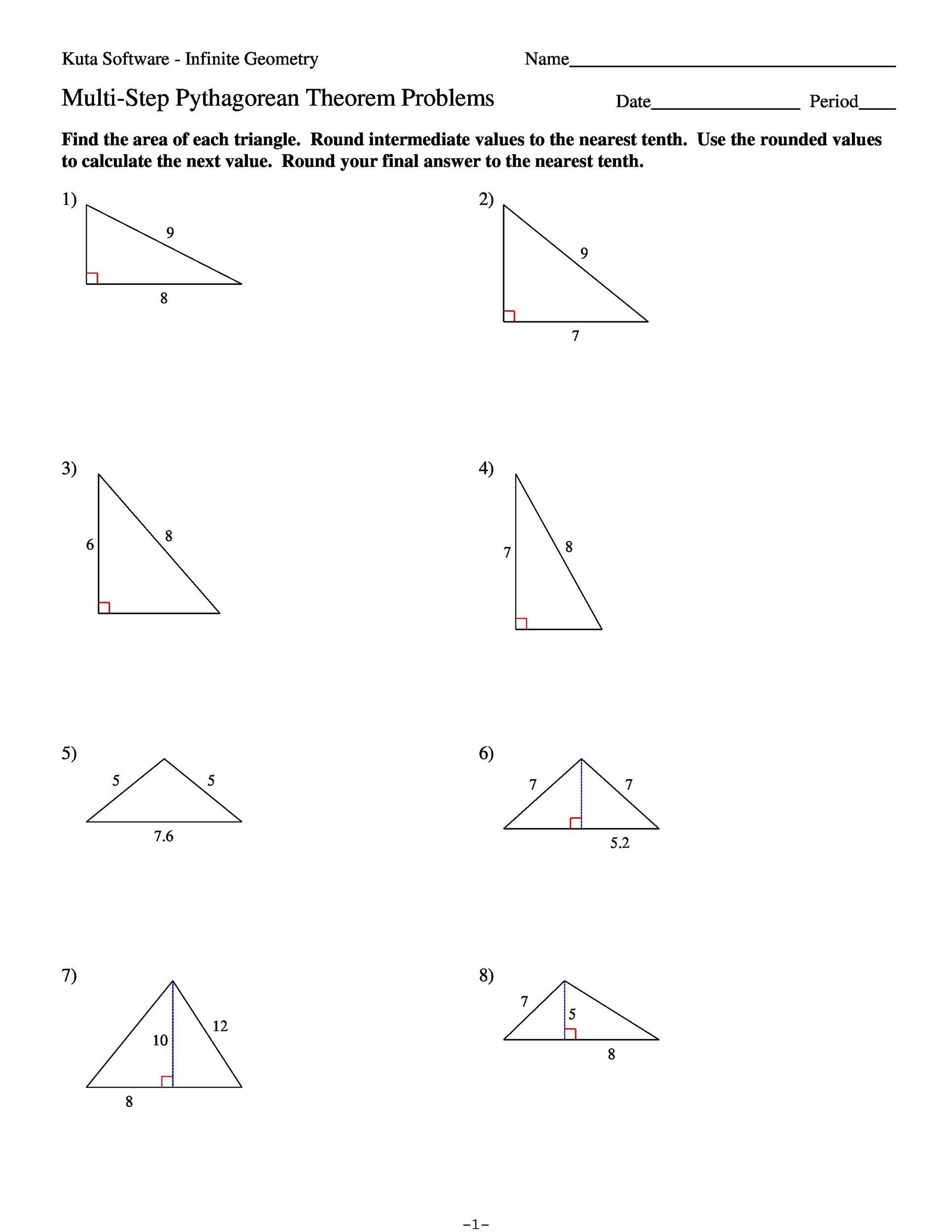 Pythagorean theorem Worksheet Answers 30 Pythagoras theorem Problems Worksheet Free Worksheet