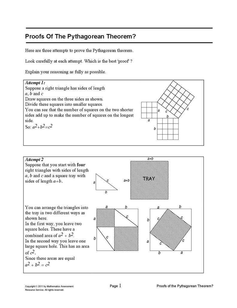 Pythagorean theorem Worksheet Answers top Ten Floo Y Wong Artist — Pythagoras theorem Proof