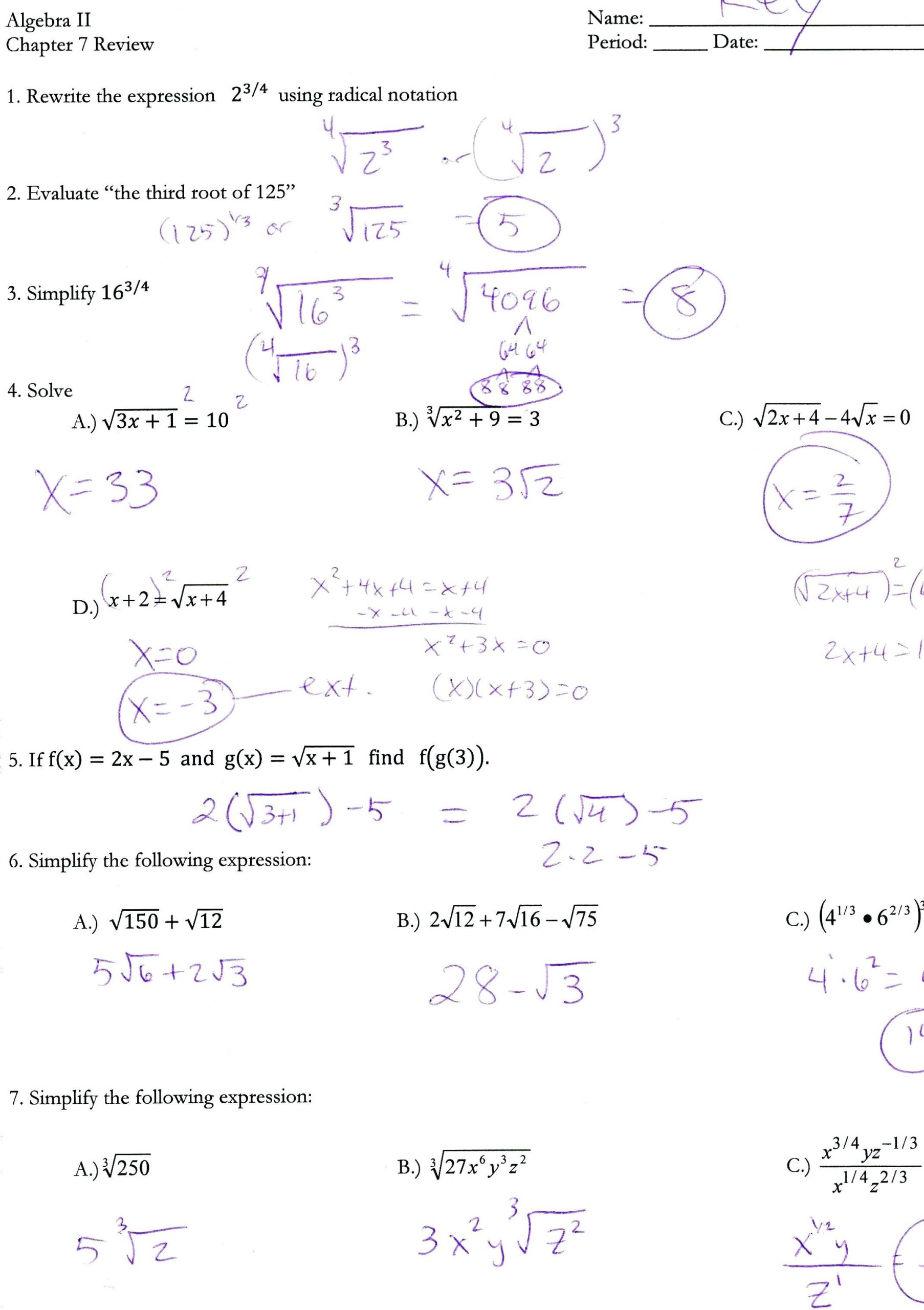 Quadratic Functions Worksheet with Answers Quadratic formula Worksheet Math Aids