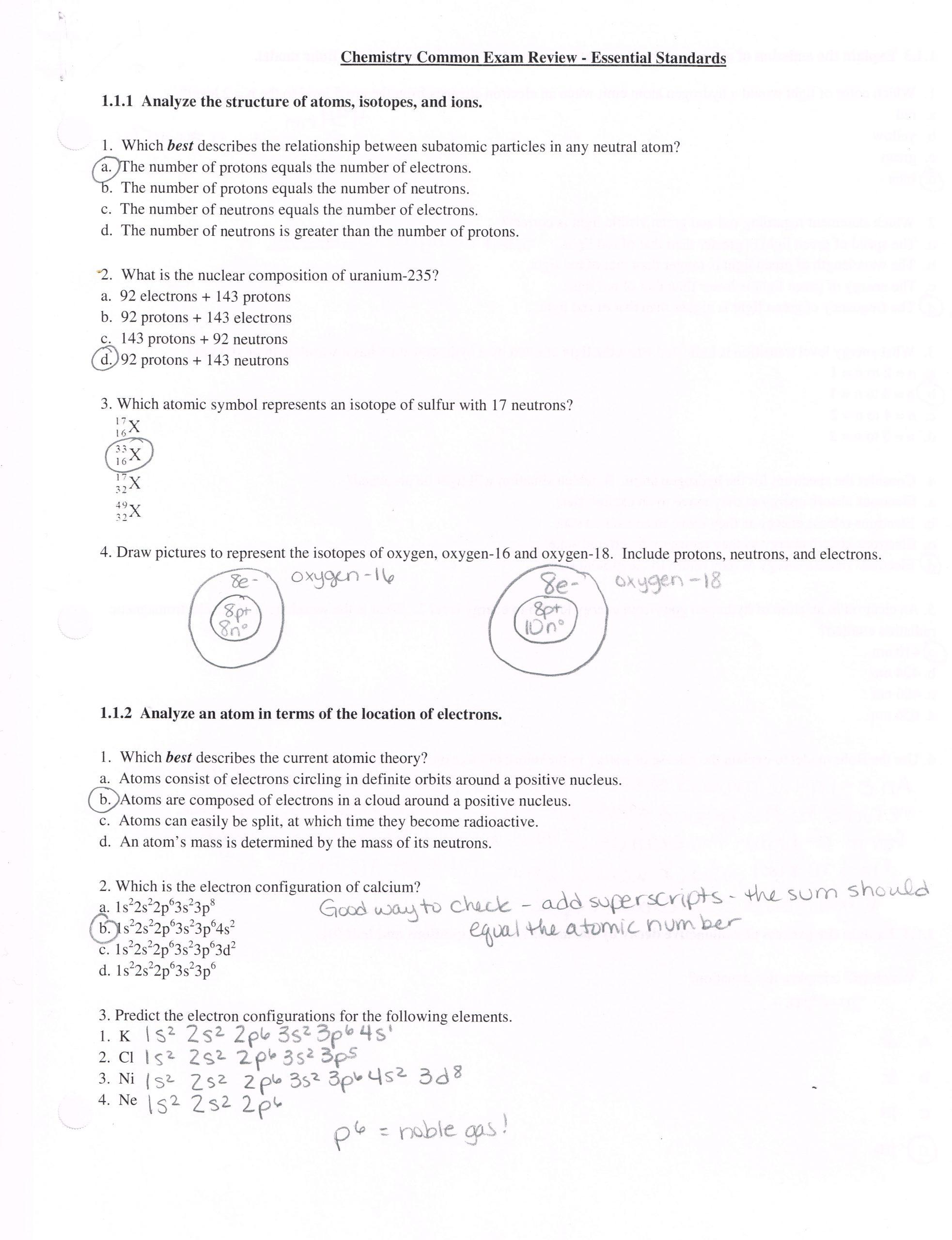 Quantum Numbers Practice Worksheet Electron Configuration Worksheet for High School
