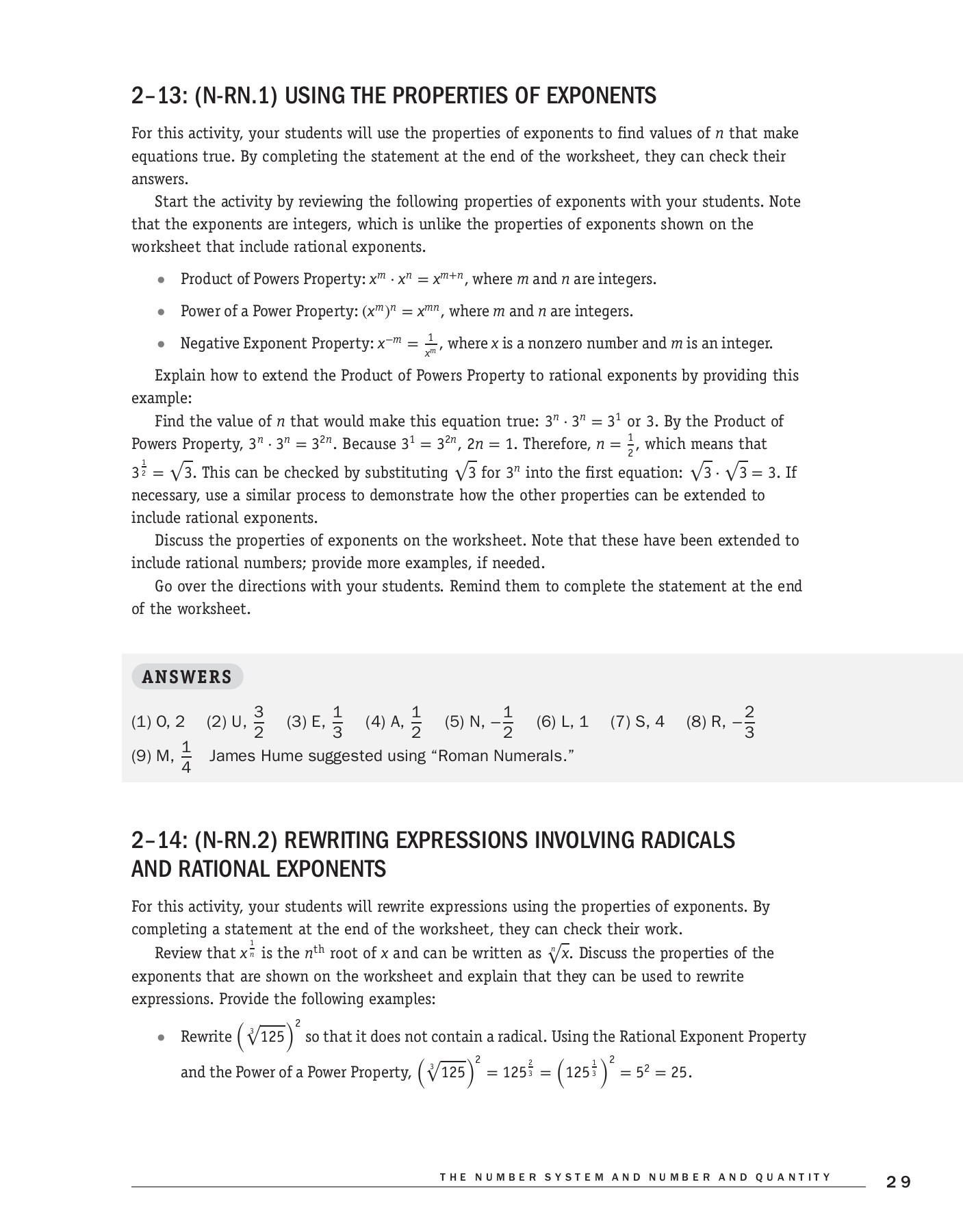 Radical and Rational Exponents Worksheet Algebra Teacher S Activities Kit 150 Activities that