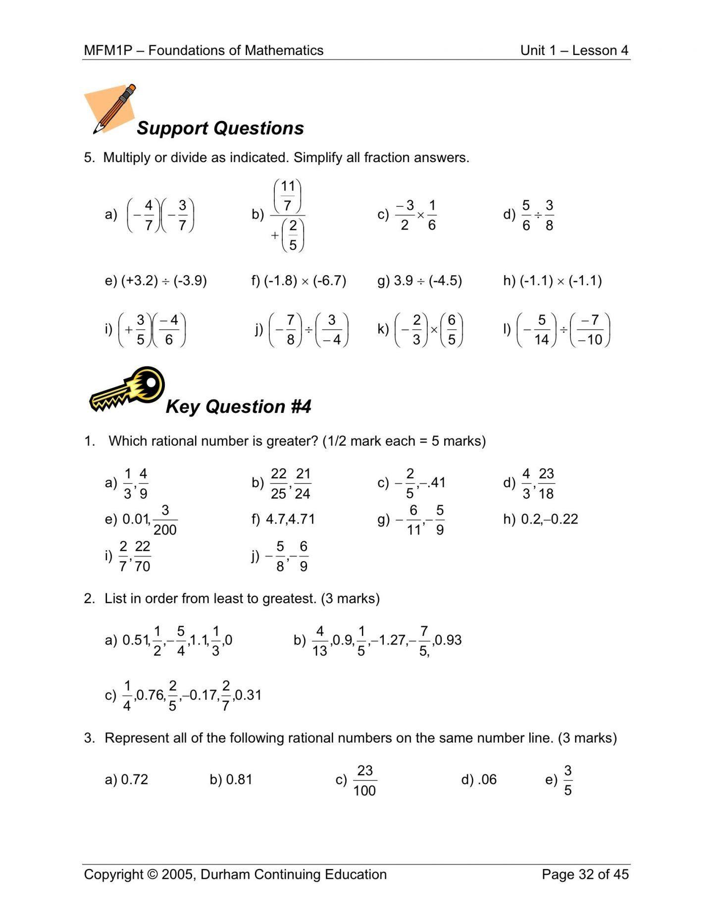 Radical and Rational Exponents Worksheet Rational Numbers Class 8 Worksheet 6 Radicals and Rational