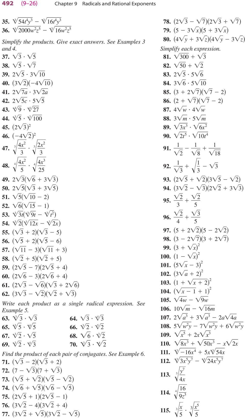 Radicals and Rational Exponents Worksheet Equations with Rational Exponents Worksheet A 9 3 Answers