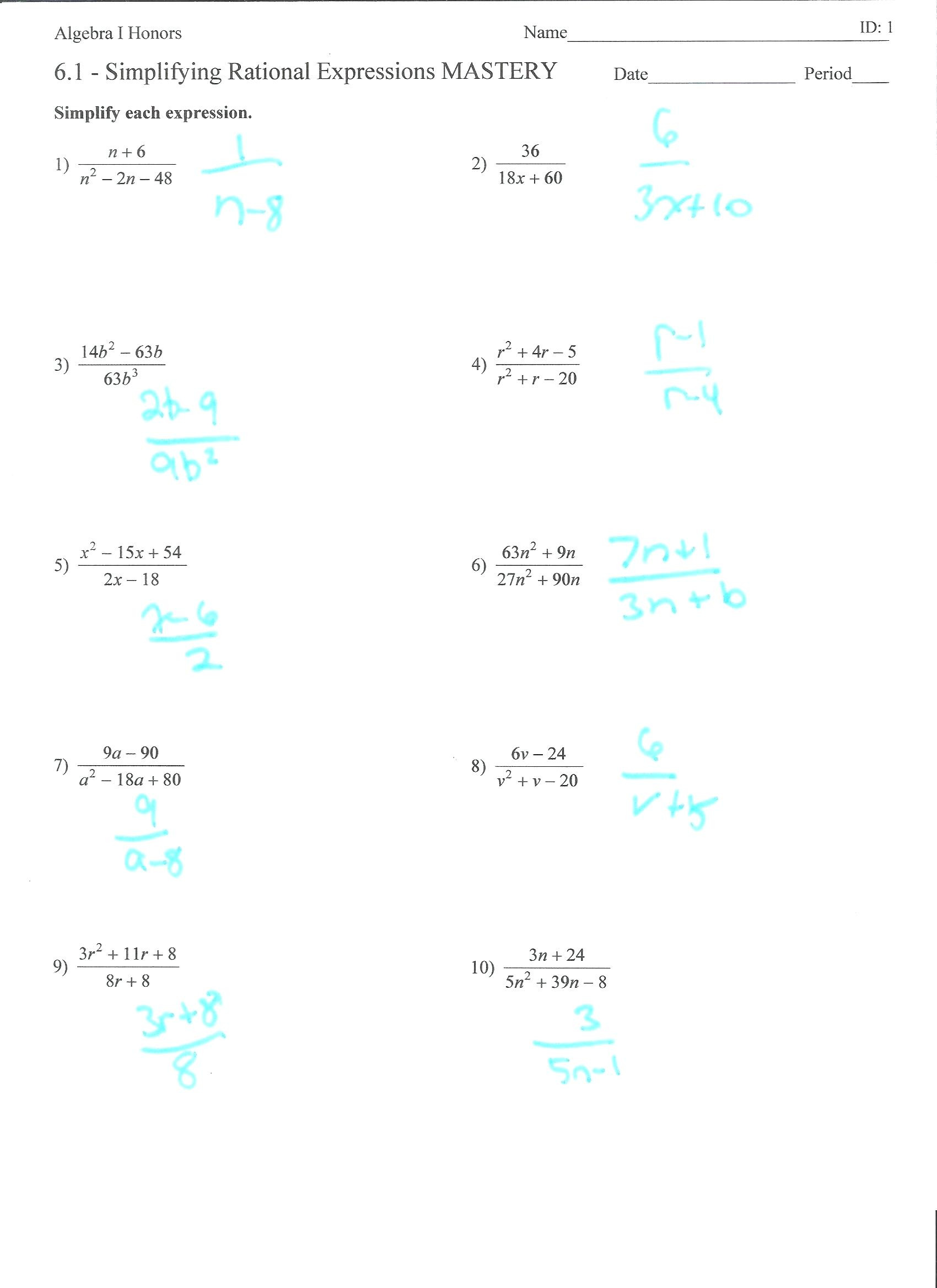 Radicals and Rational Exponents Worksheet Radical Expressions and Rational Exponents Worksheet