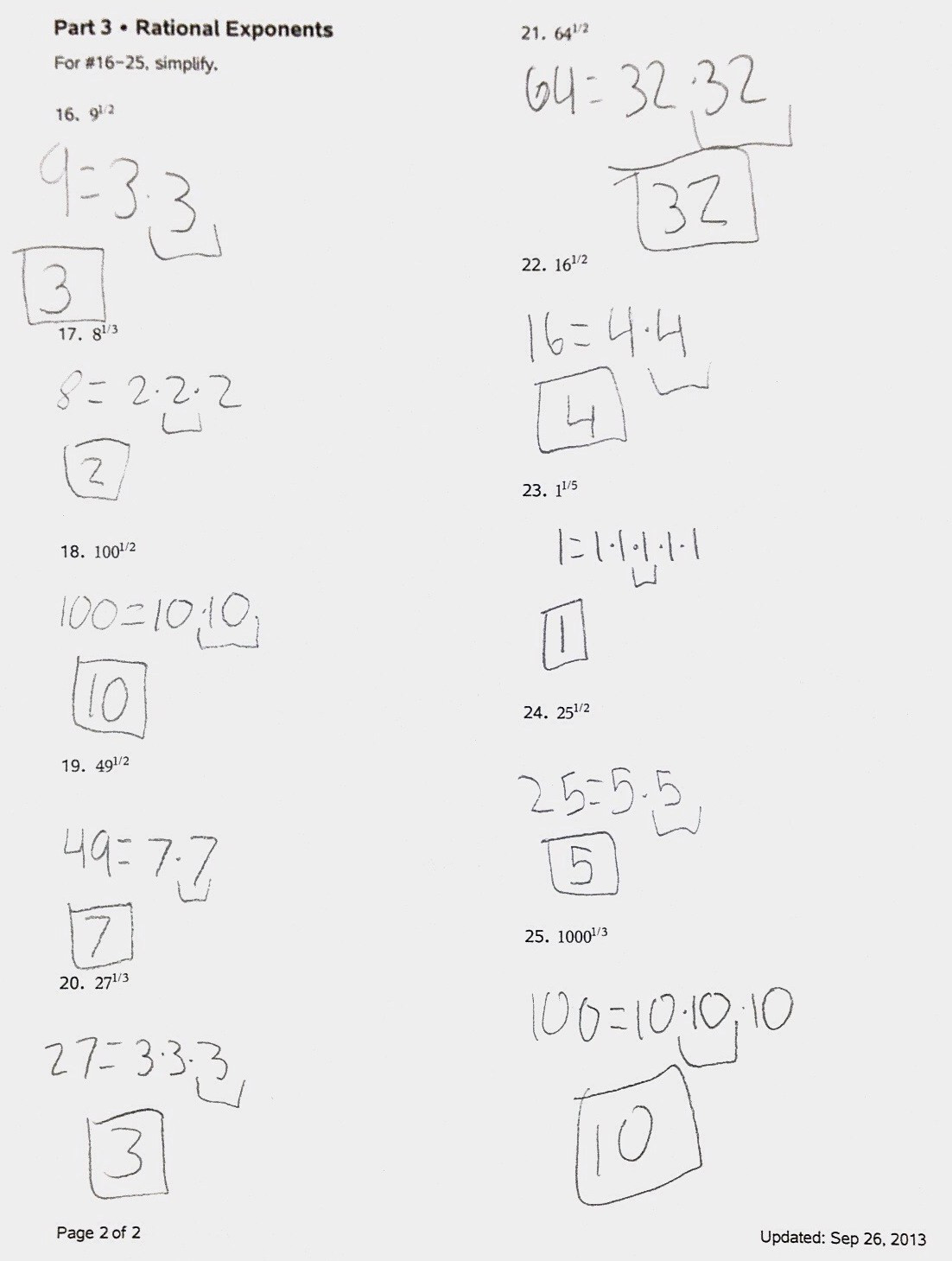 Radicals and Rational Exponents Worksheet Worksheet Rational Exponents