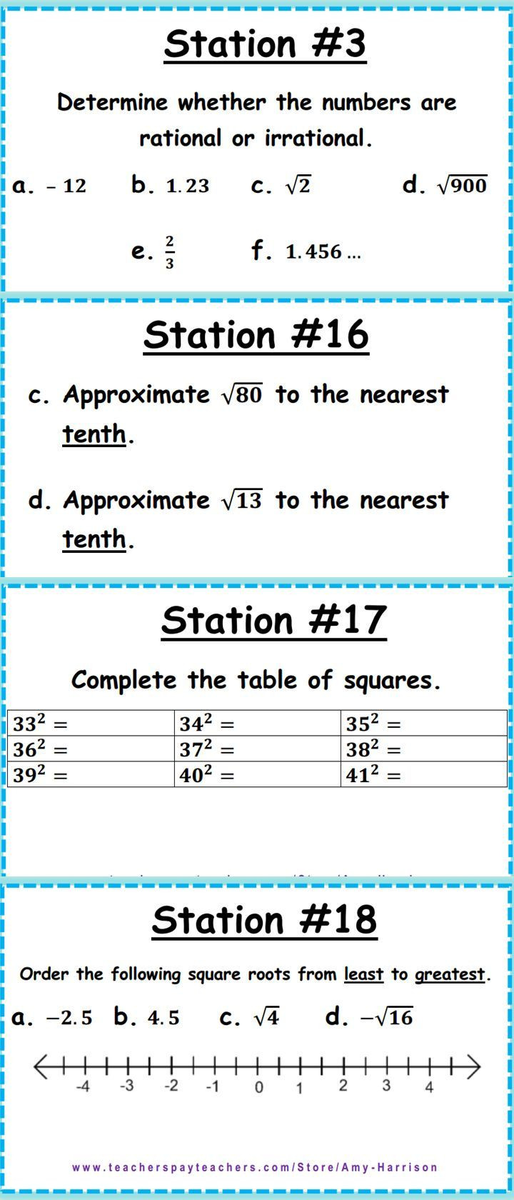 Rational and Irrational Numbers Worksheet Ccss 8 Ns 1 & 8 Ns 2 Irrational and Rational Numbers