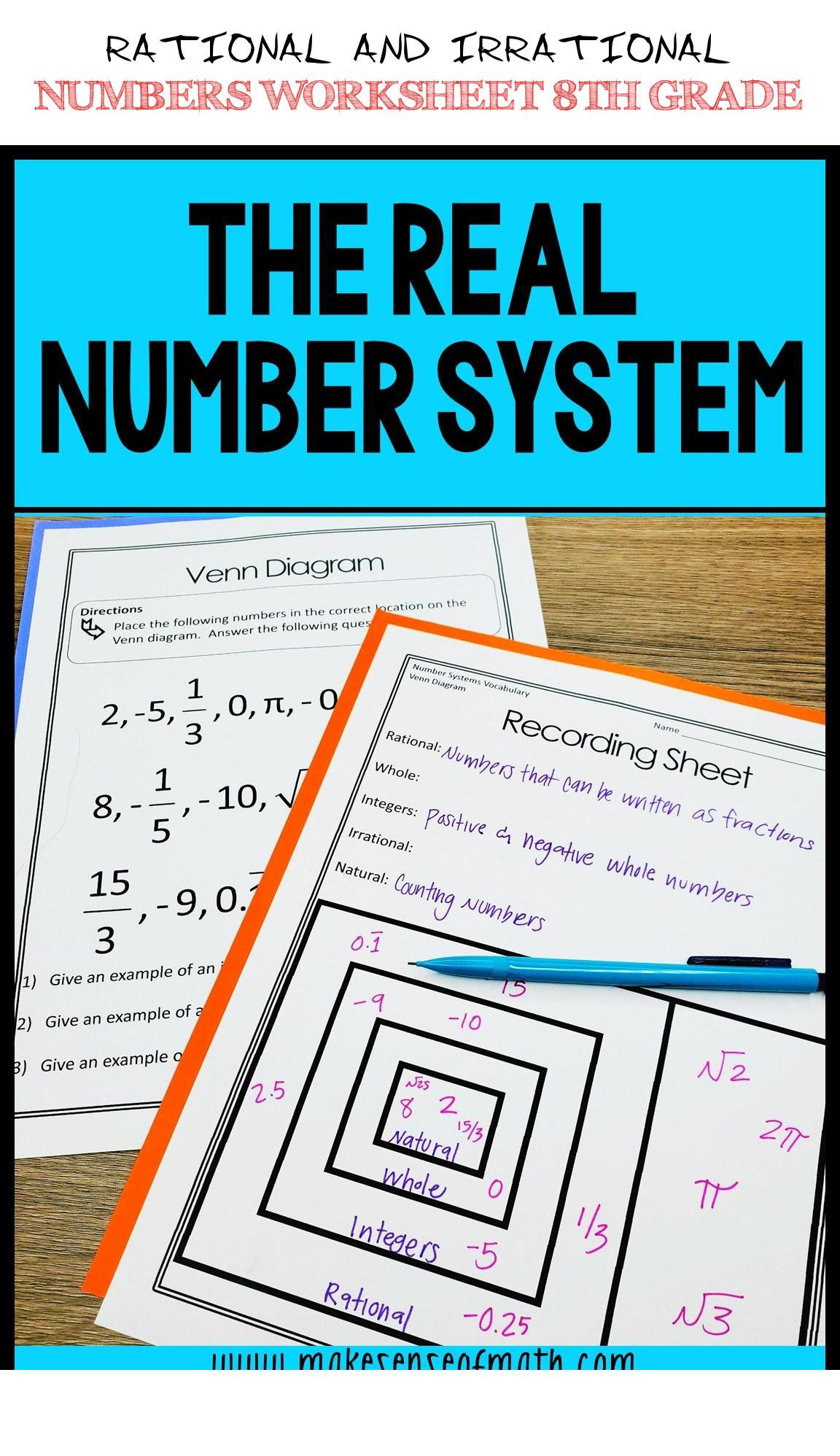 Rational and Irrational Numbers Worksheet Rational and Irrational Numbers Worksheet 8th Grade Rational