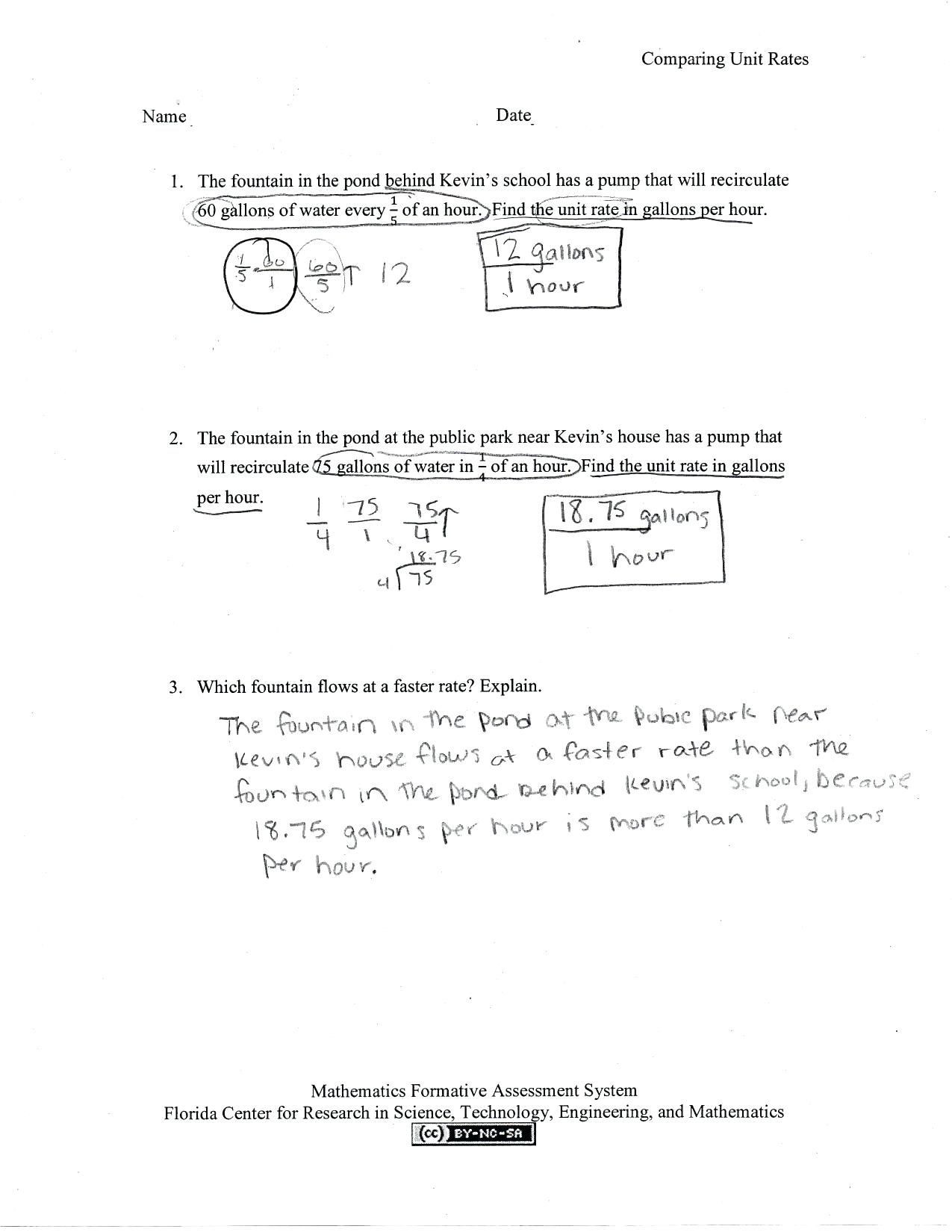 Ratios and Rates Worksheet 41 Simple Ratio Worksheets Design